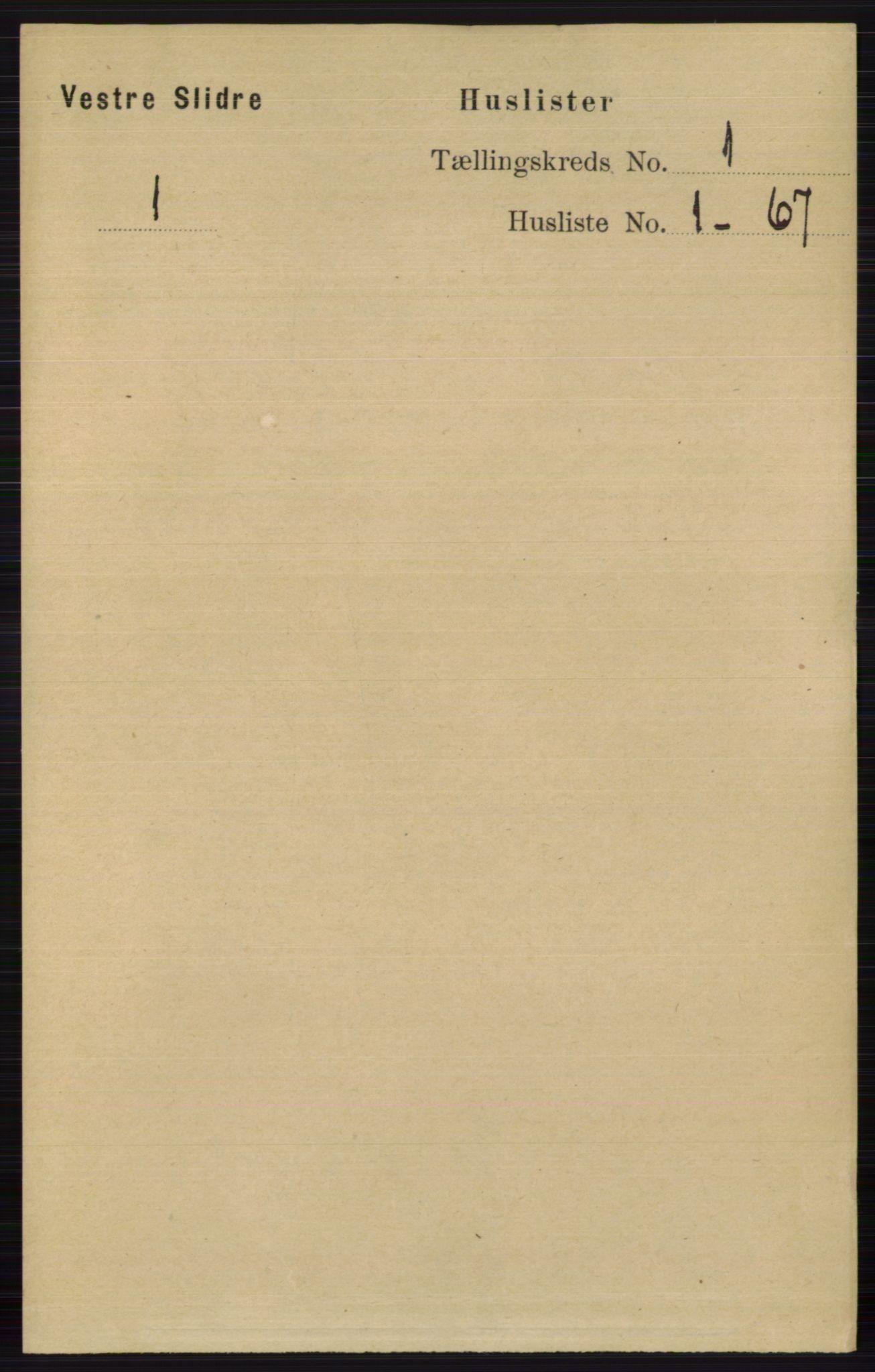 RA, Folketelling 1891 for 0543 Vestre Slidre herred, 1891, s. 28