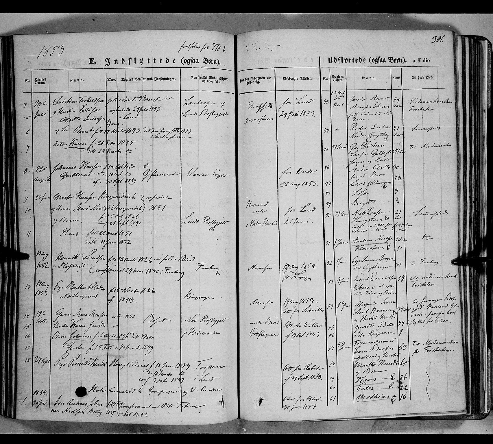 SAH, Biri prestekontor, Ministerialbok nr. 5, 1843-1854, s. 301