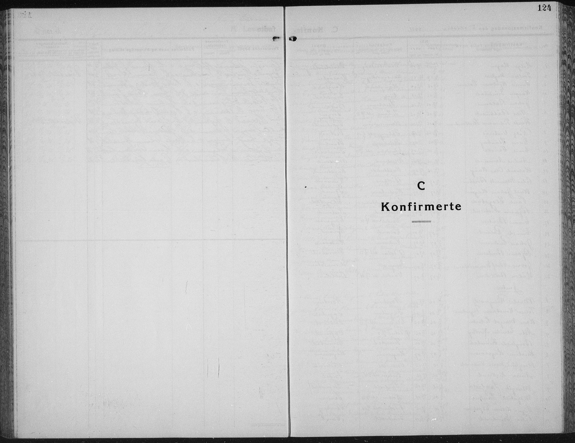 SAH, Vestre Toten prestekontor, Klokkerbok nr. 18, 1928-1941, s. 124