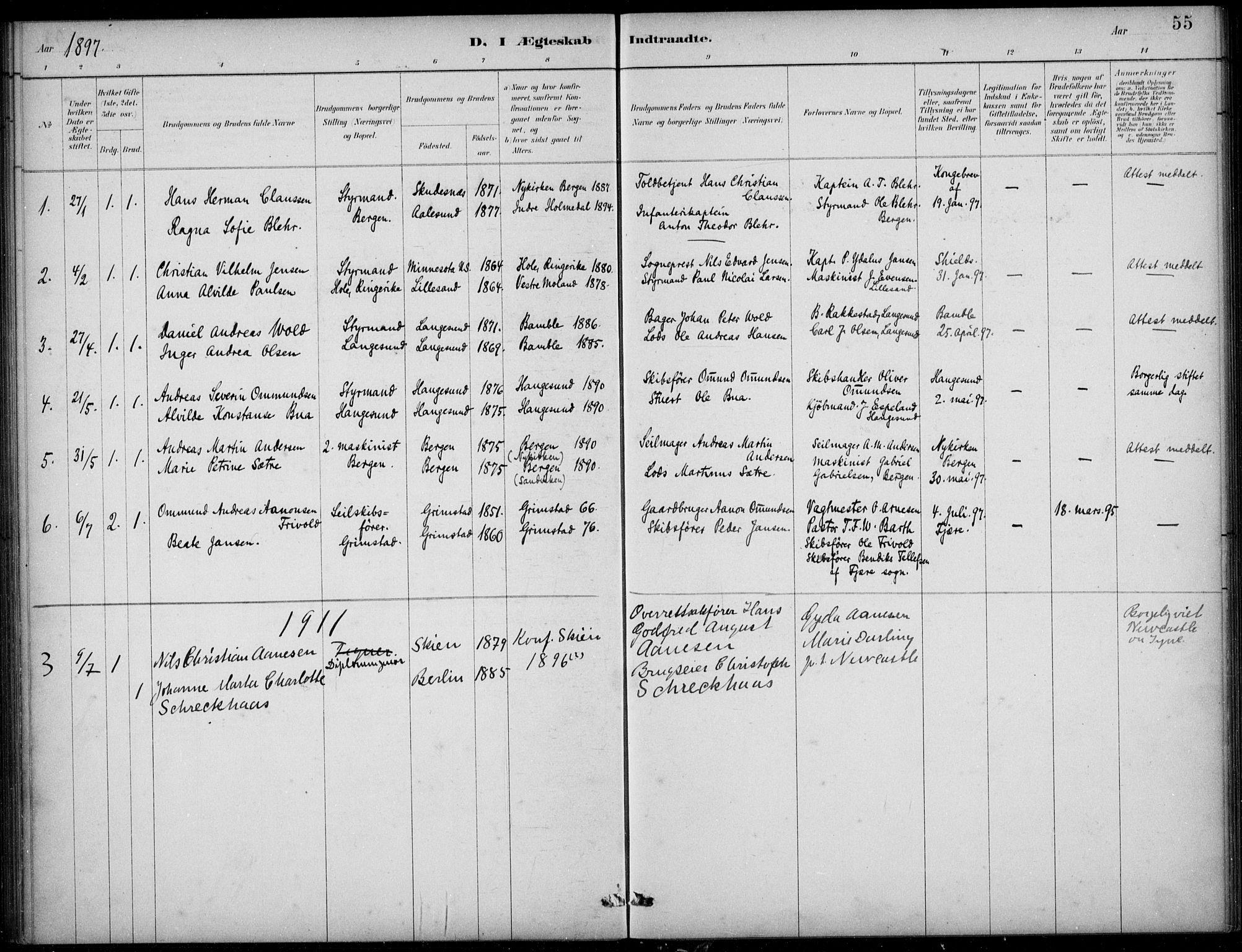 SAB, Den Norske Sjømannsmisjon i utlandet*, Ministerialbok nr. A 2, 1883-1936, s. 55