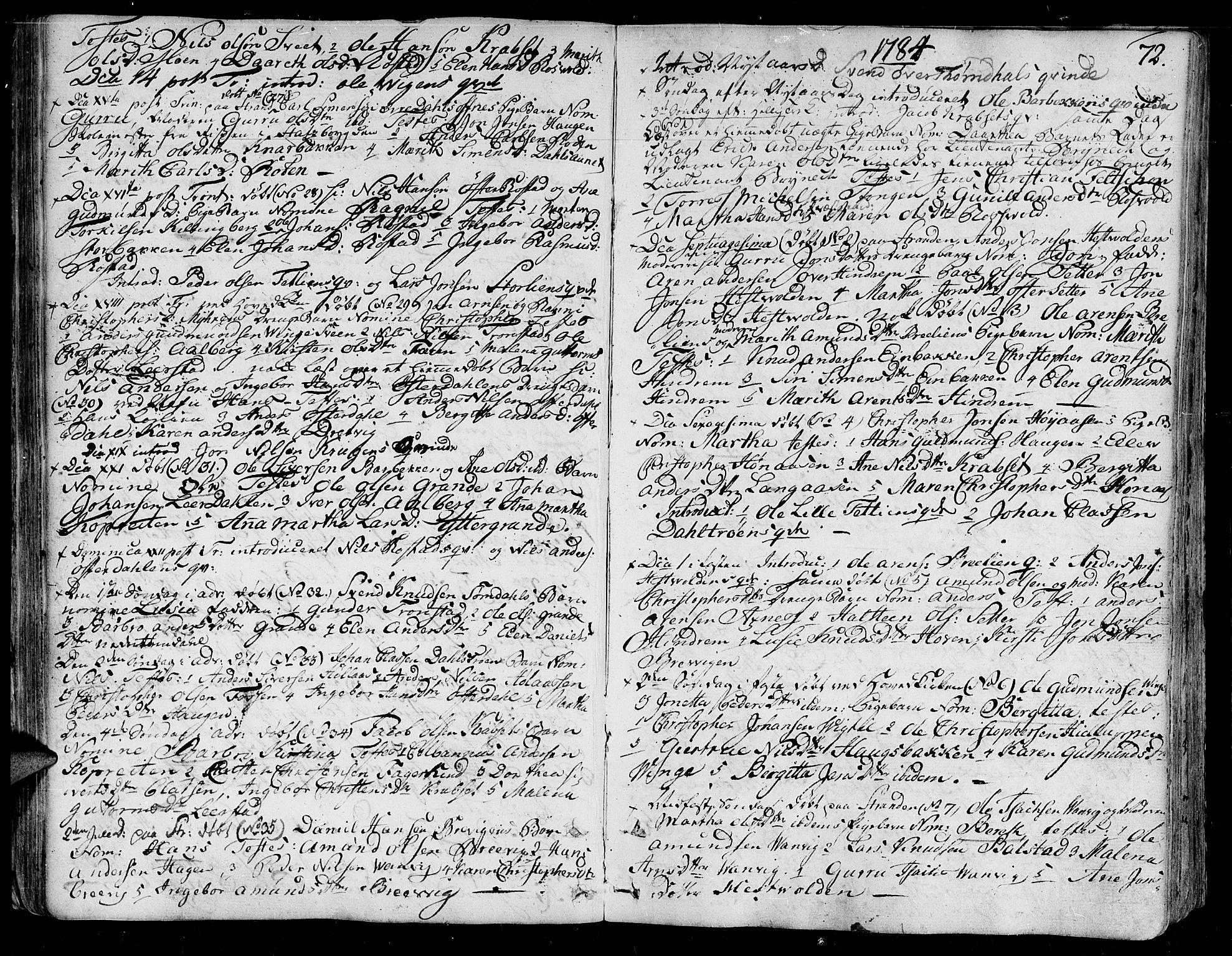 SAT, Ministerialprotokoller, klokkerbøker og fødselsregistre - Nord-Trøndelag, 701/L0004: Ministerialbok nr. 701A04, 1783-1816, s. 72