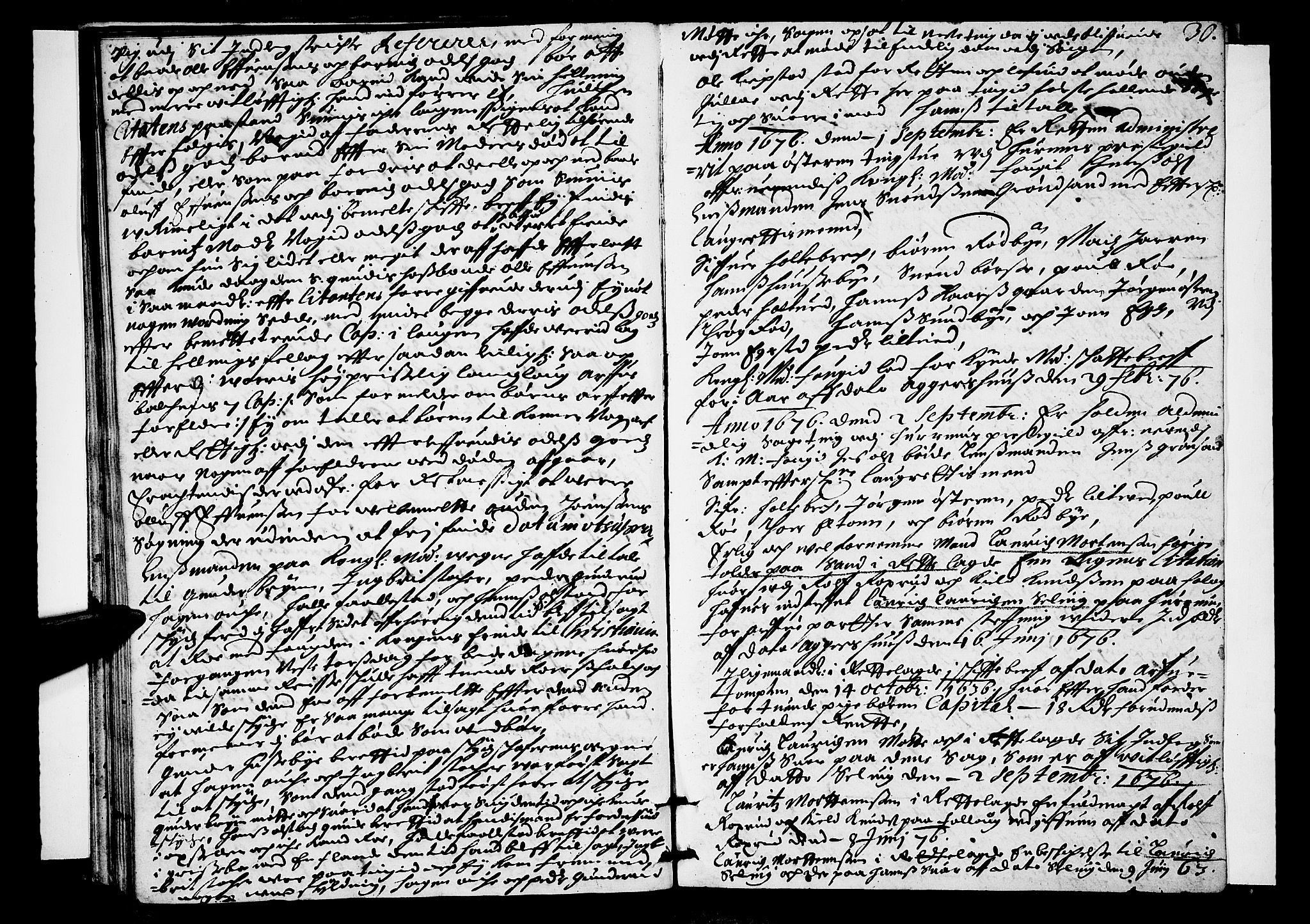SAKO, Lier, Røyken og Hurum sorenskriveri, F/Fa/L0017: Tingbok, 1676, s. 30