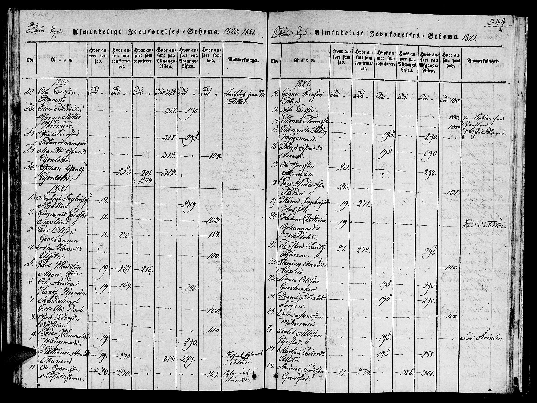 SAT, Ministerialprotokoller, klokkerbøker og fødselsregistre - Sør-Trøndelag, 618/L0450: Klokkerbok nr. 618C01, 1816-1865, s. 344