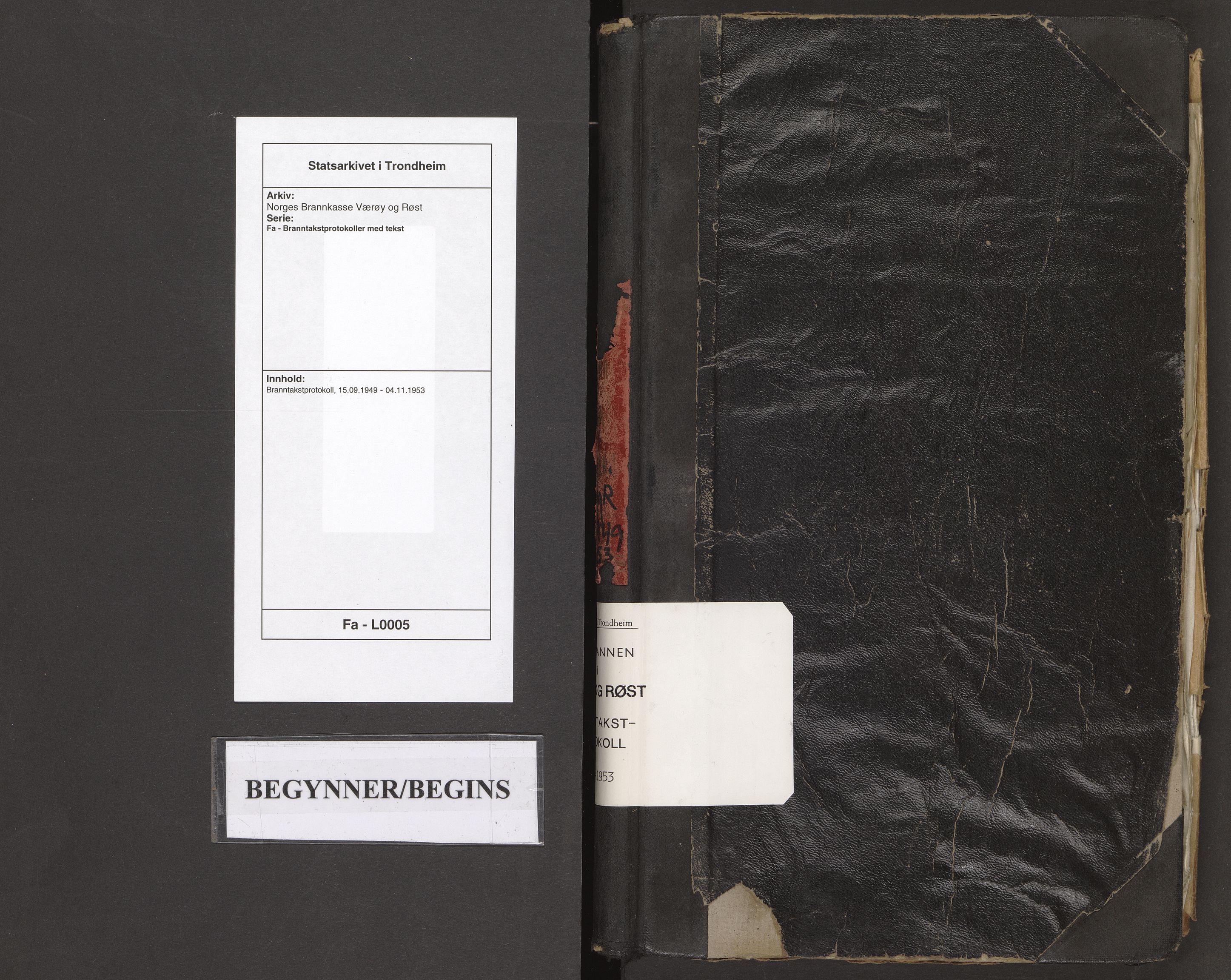 SAT, Norges Brannkasse Værøy og Røst, Fa/L0005: Branntakstprotokoll, 1943-1949