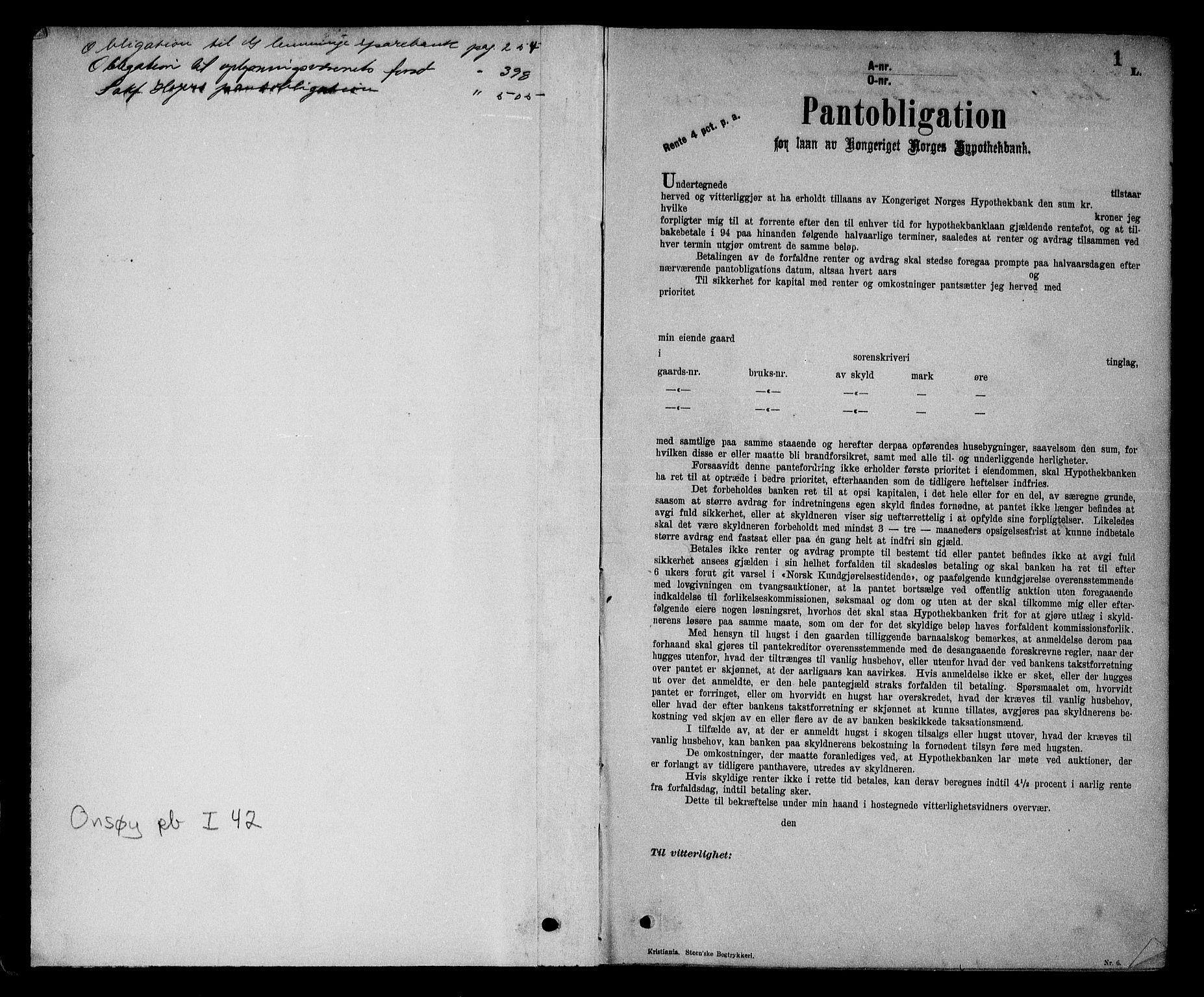 SAO, Onsøy sorenskriveri, G/Ga/Gaa/L0042: Pantebok nr. I 42, 1912-1913, s. 1