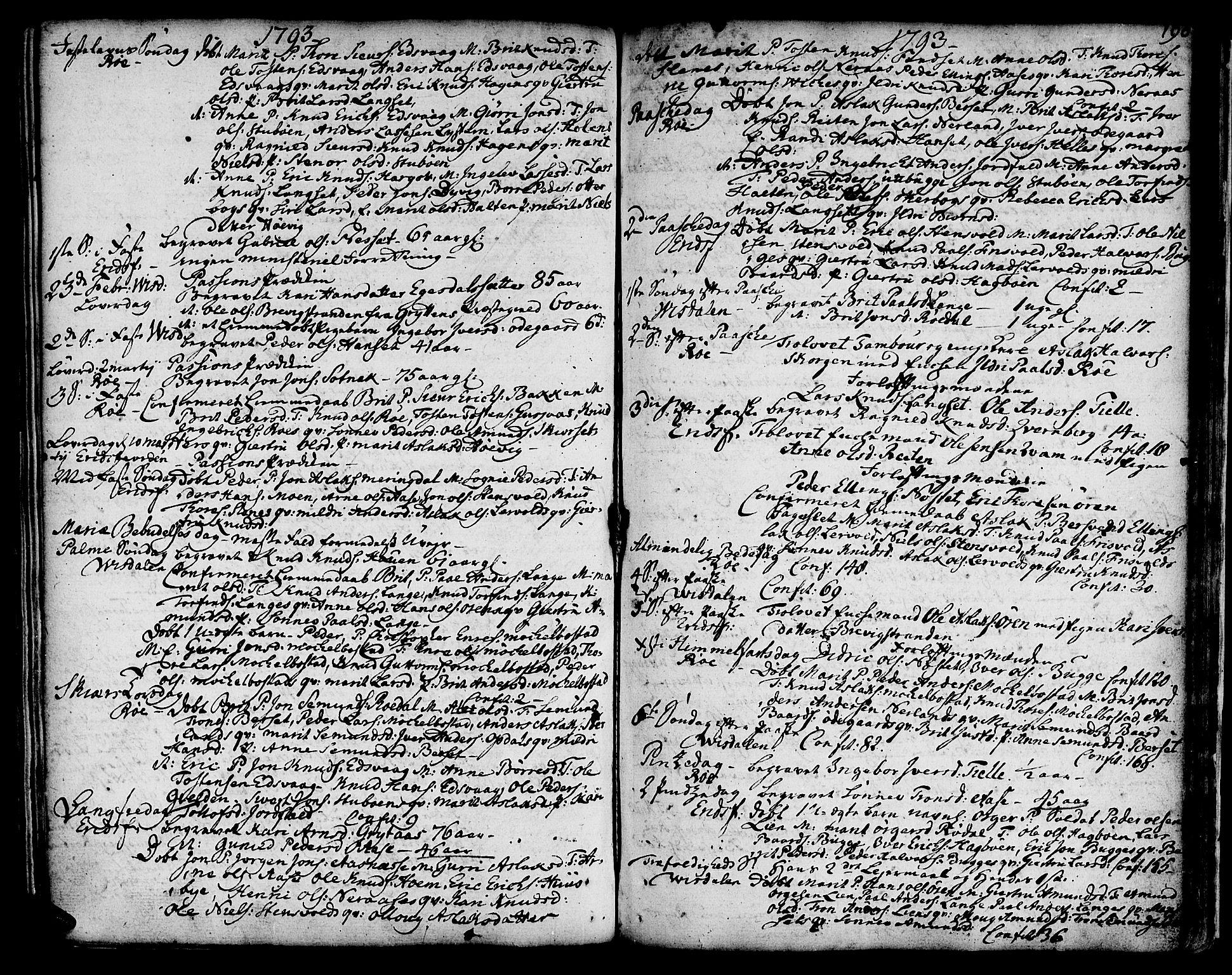 SAT, Ministerialprotokoller, klokkerbøker og fødselsregistre - Møre og Romsdal, 551/L0621: Ministerialbok nr. 551A01, 1757-1803, s. 196
