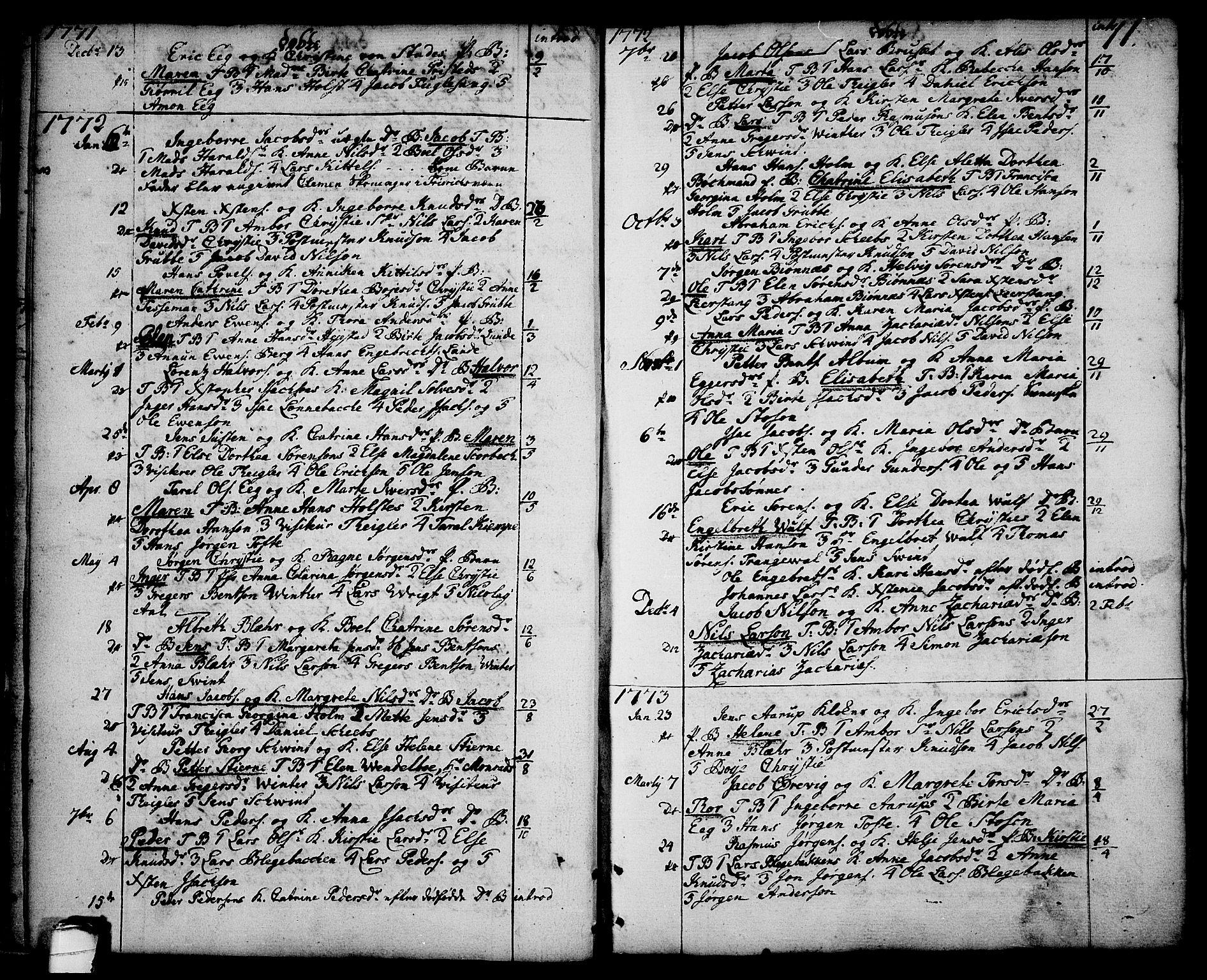 SAKO, Brevik kirkebøker, F/Fa/L0003: Ministerialbok nr. 3, 1764-1814, s. 11