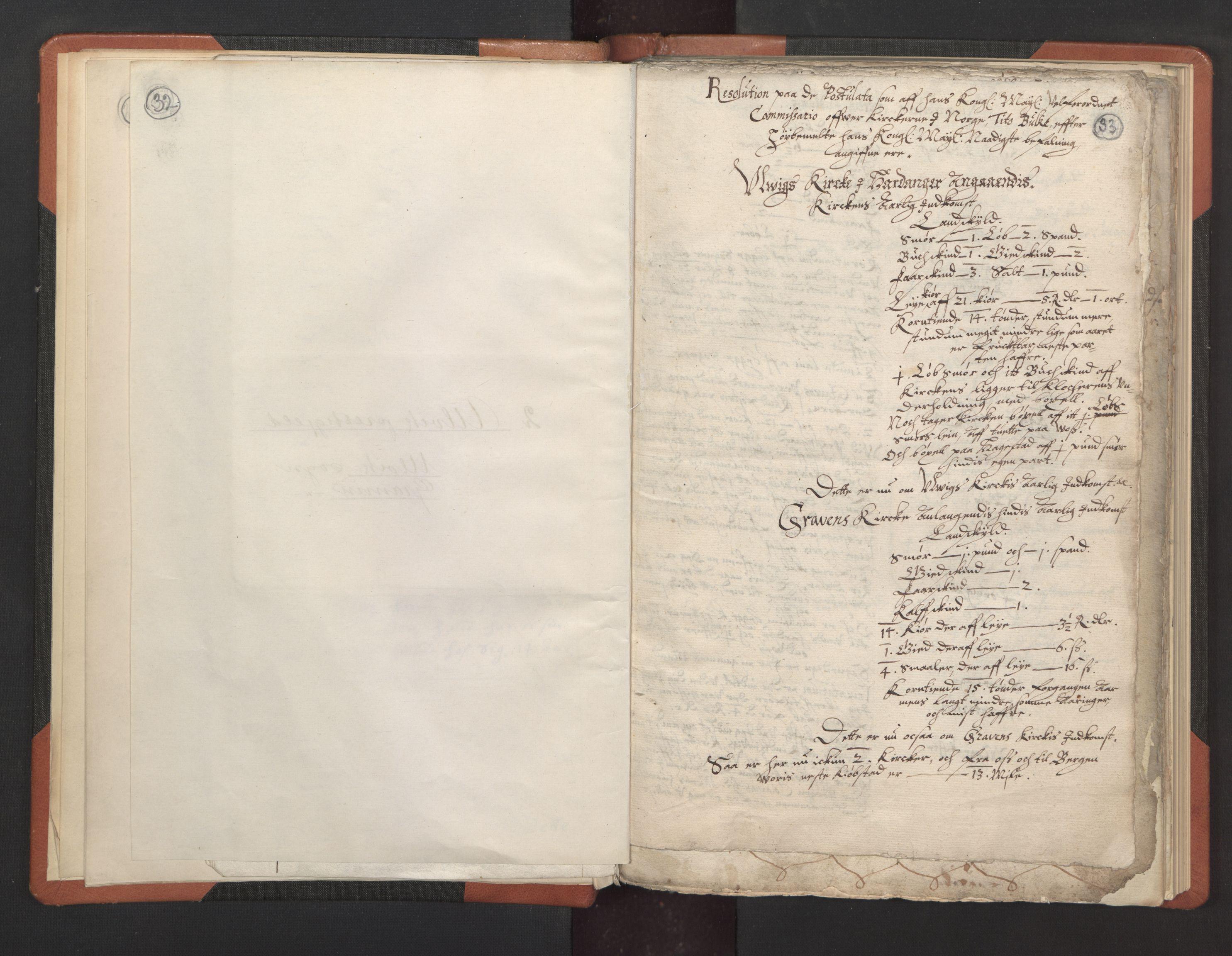 RA, Sogneprestenes manntall 1664-1666, nr. 21: Hardanger prosti, 1664-1666, s. 32-33