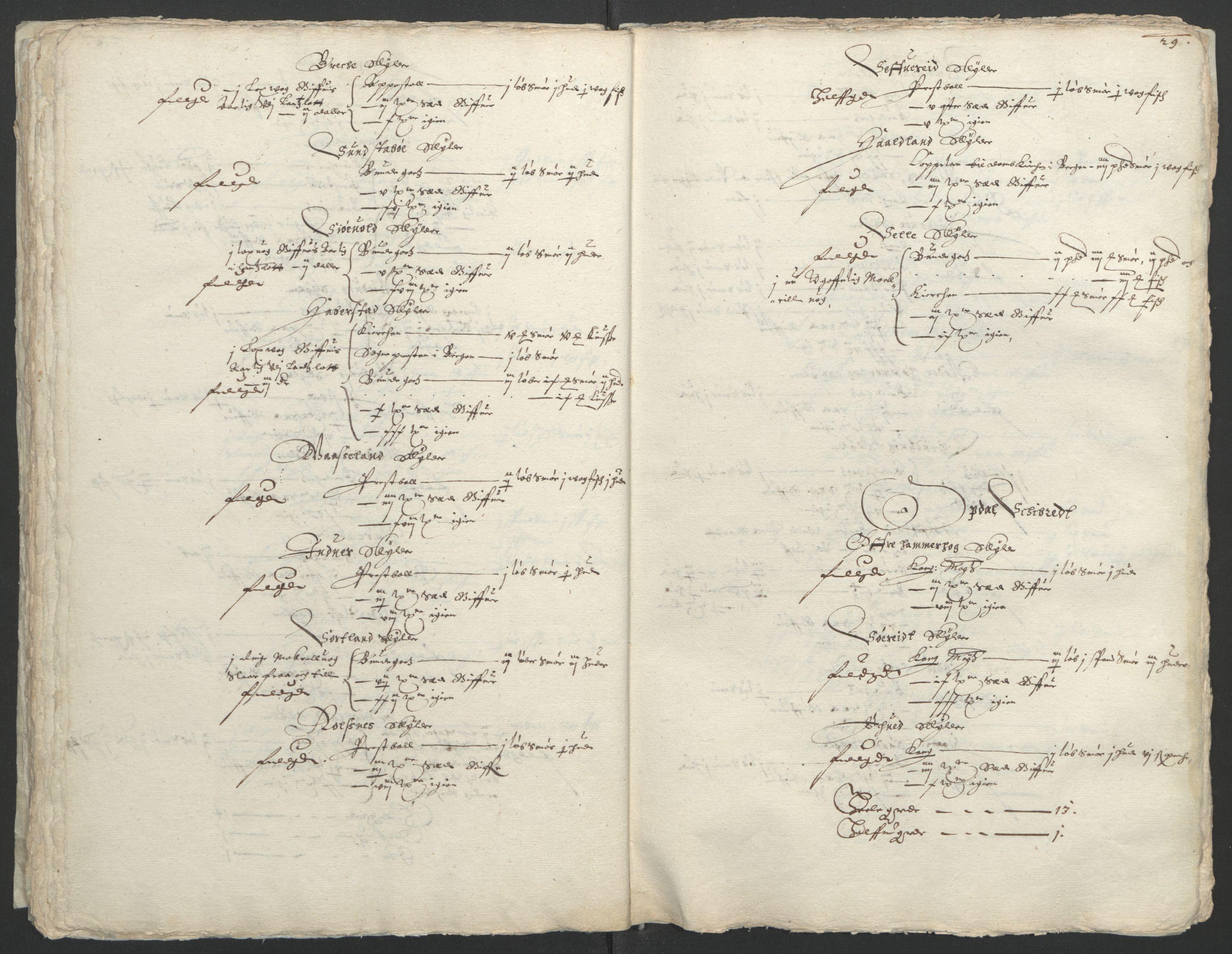 RA, Stattholderembetet 1572-1771, Ek/L0004: Jordebøker til utlikning av garnisonsskatt 1624-1626:, 1626, s. 33