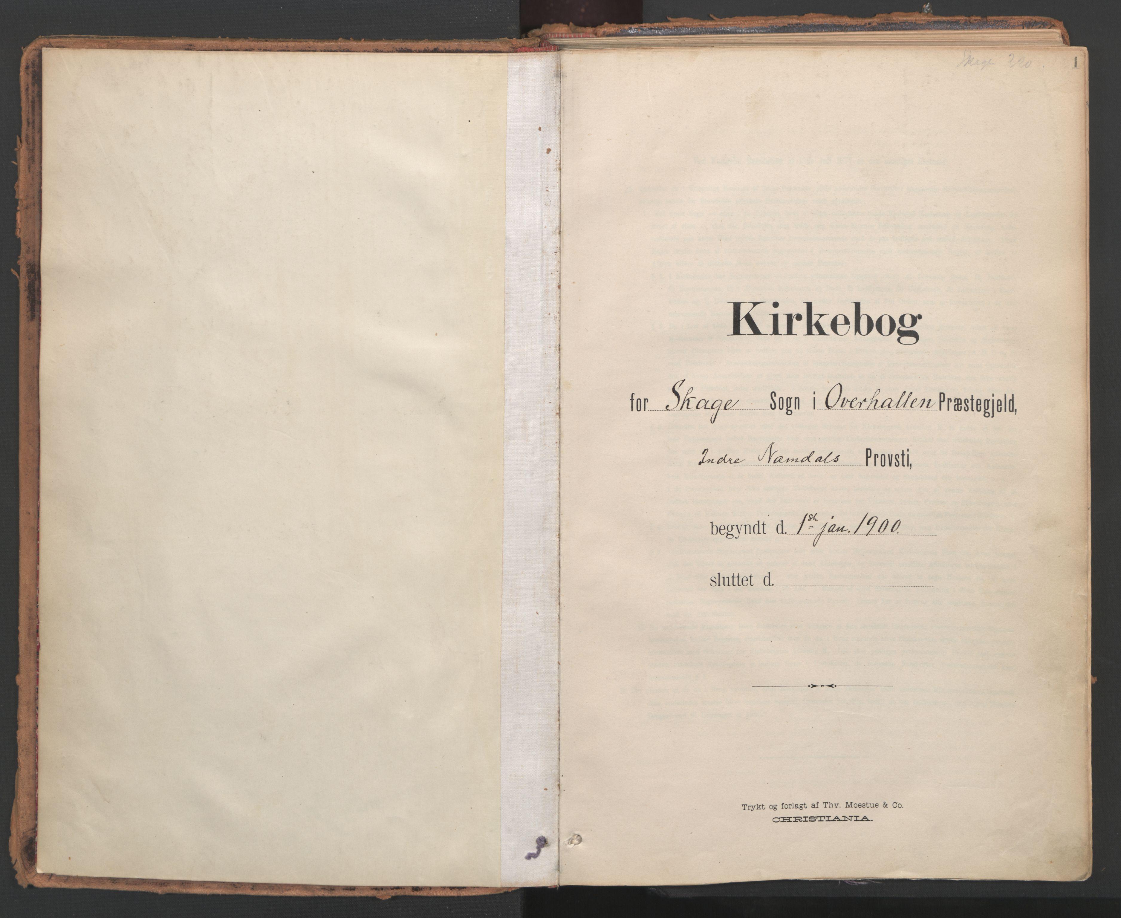 SAT, Ministerialprotokoller, klokkerbøker og fødselsregistre - Nord-Trøndelag, 766/L0564: Ministerialbok nr. 767A02, 1900-1932, s. 1