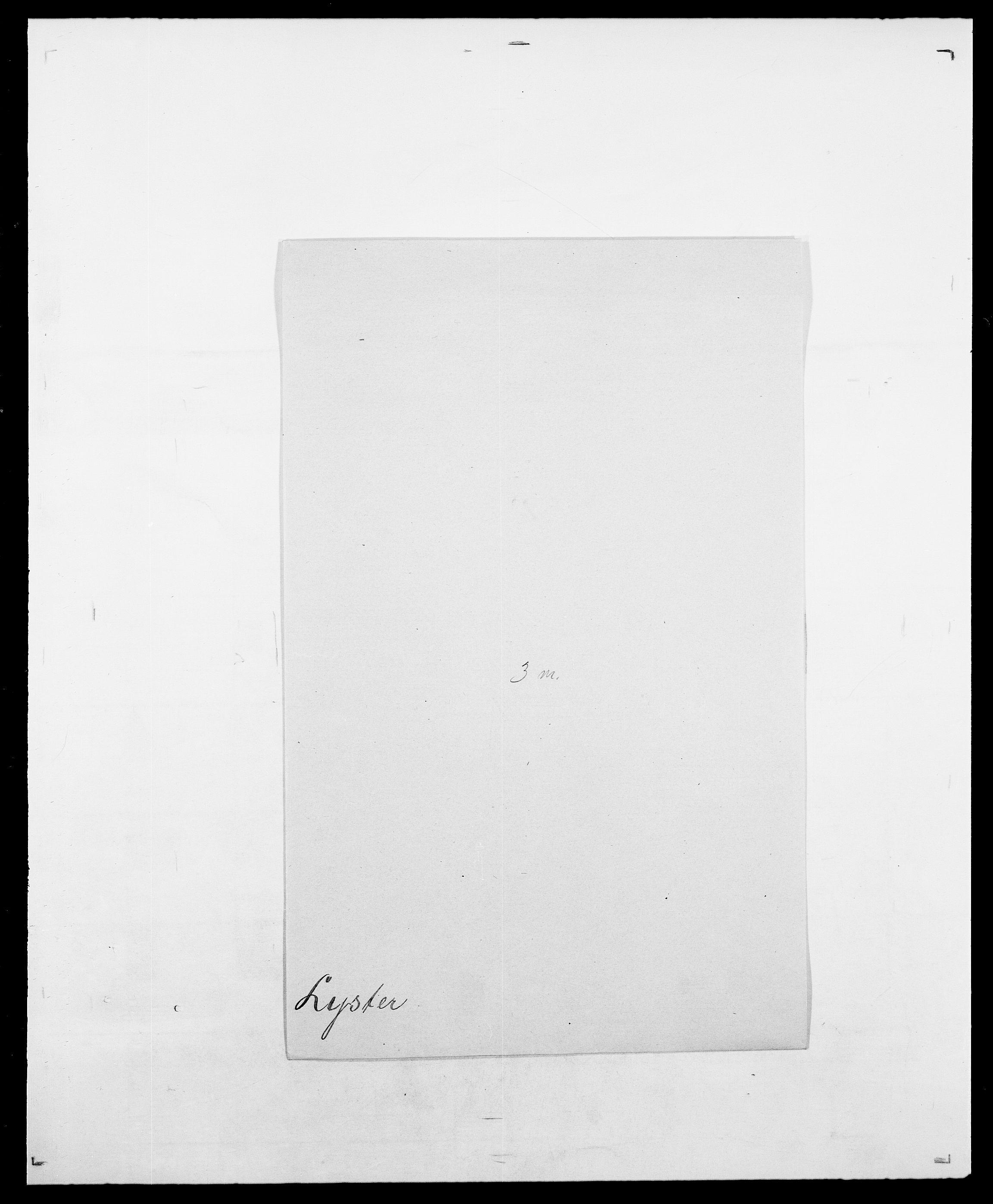 SAO, Delgobe, Charles Antoine - samling, D/Da/L0024: Lobech - Lærum, s. 780