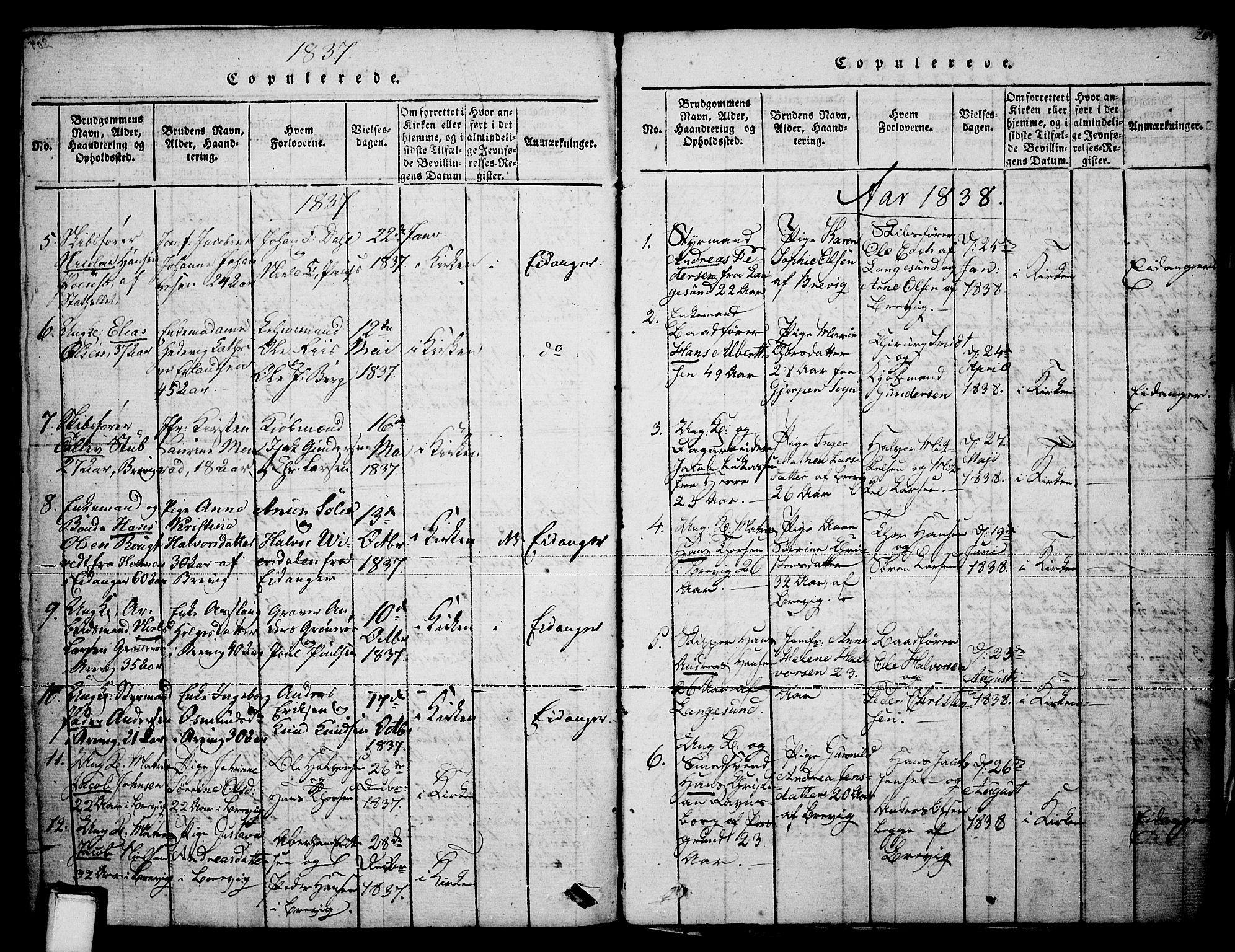 SAKO, Brevik kirkebøker, F/Fa/L0004: Ministerialbok nr. 4, 1814-1846, s. 205