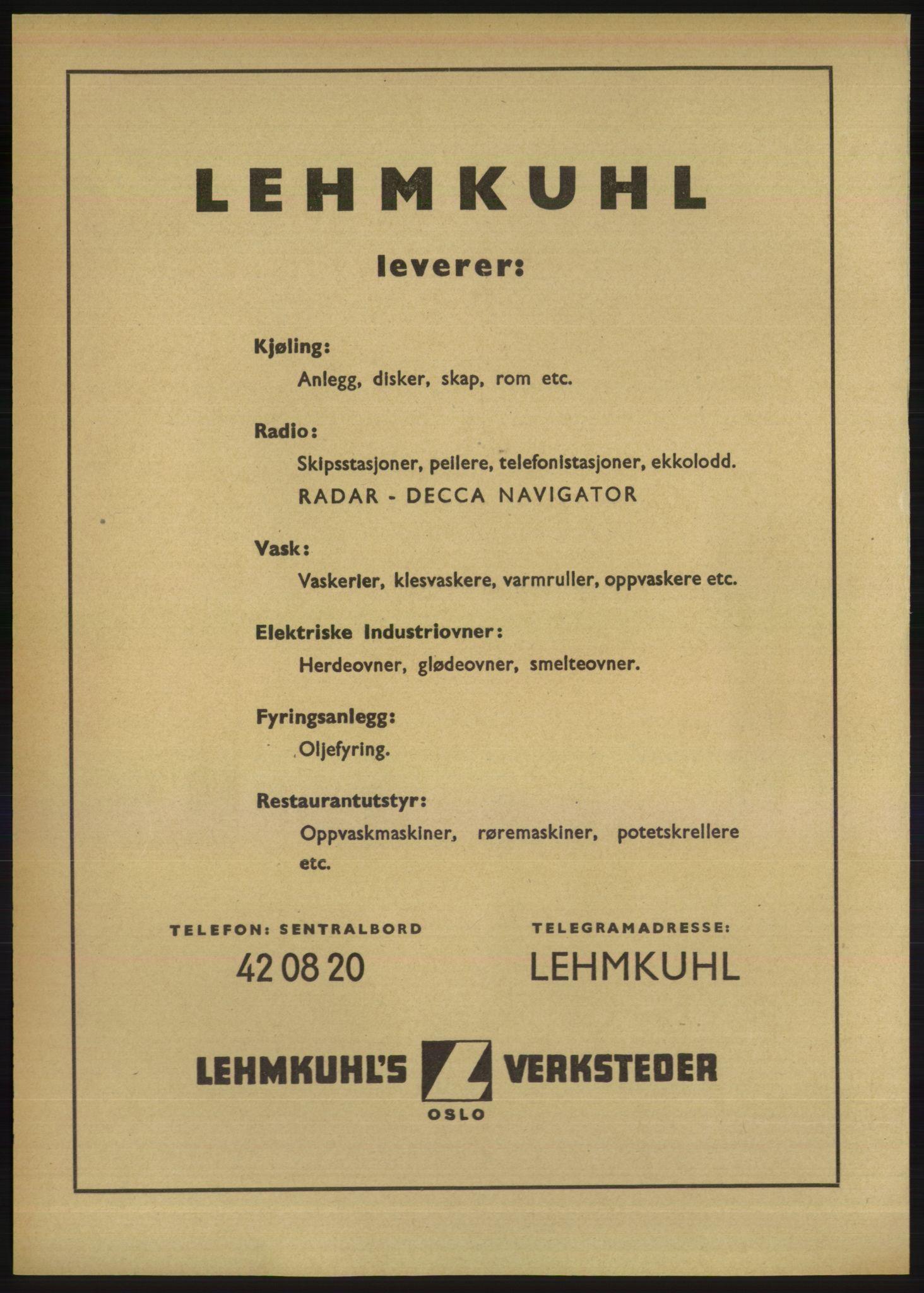 RA, Oslo adressebok (publikasjon)*, 1950, s. 1700