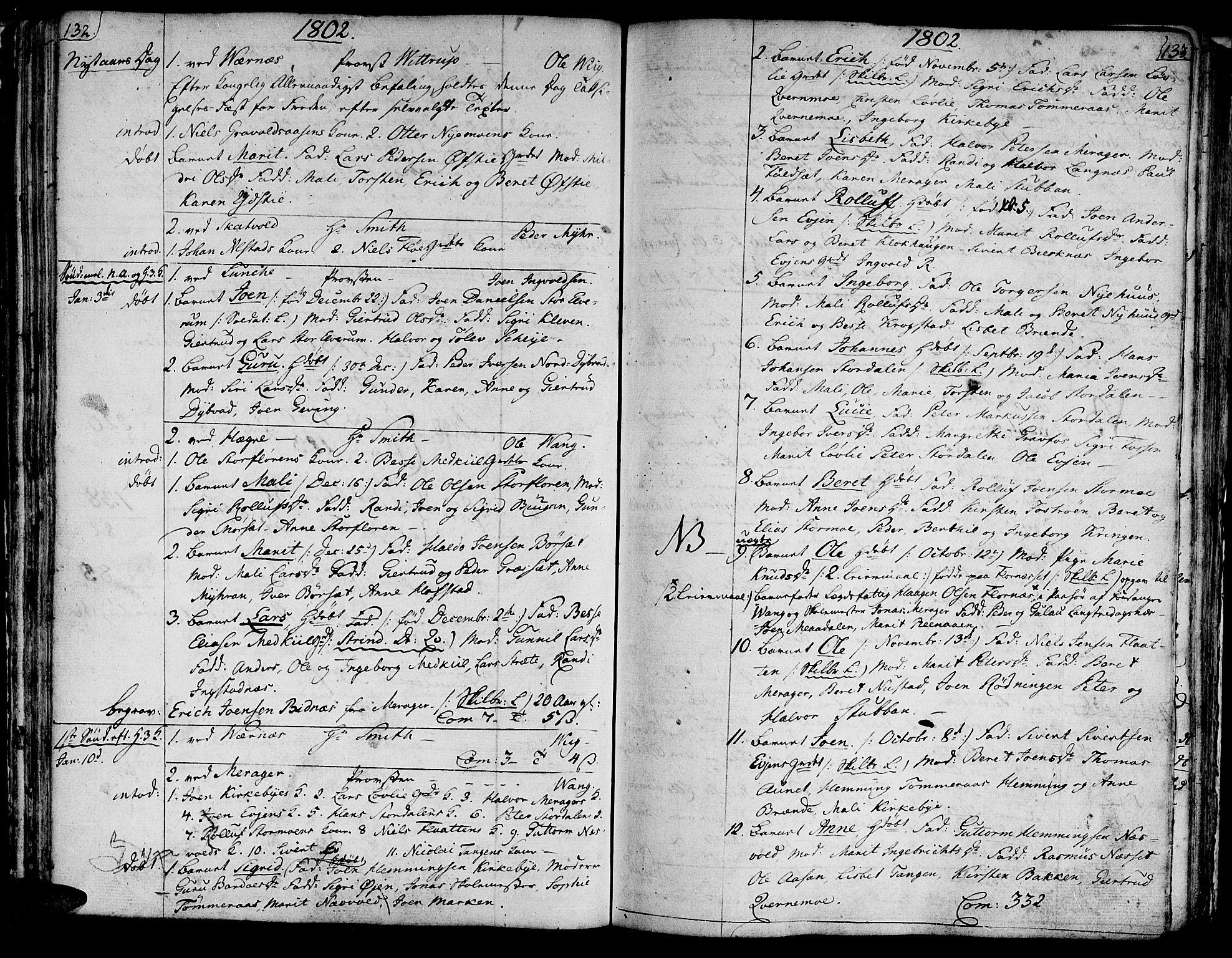 SAT, Ministerialprotokoller, klokkerbøker og fødselsregistre - Nord-Trøndelag, 709/L0060: Ministerialbok nr. 709A07, 1797-1815, s. 132-133