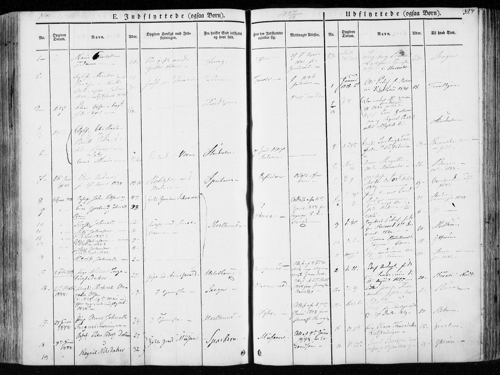 SAT, Ministerialprotokoller, klokkerbøker og fødselsregistre - Nord-Trøndelag, 723/L0239: Ministerialbok nr. 723A08, 1841-1851, s. 327