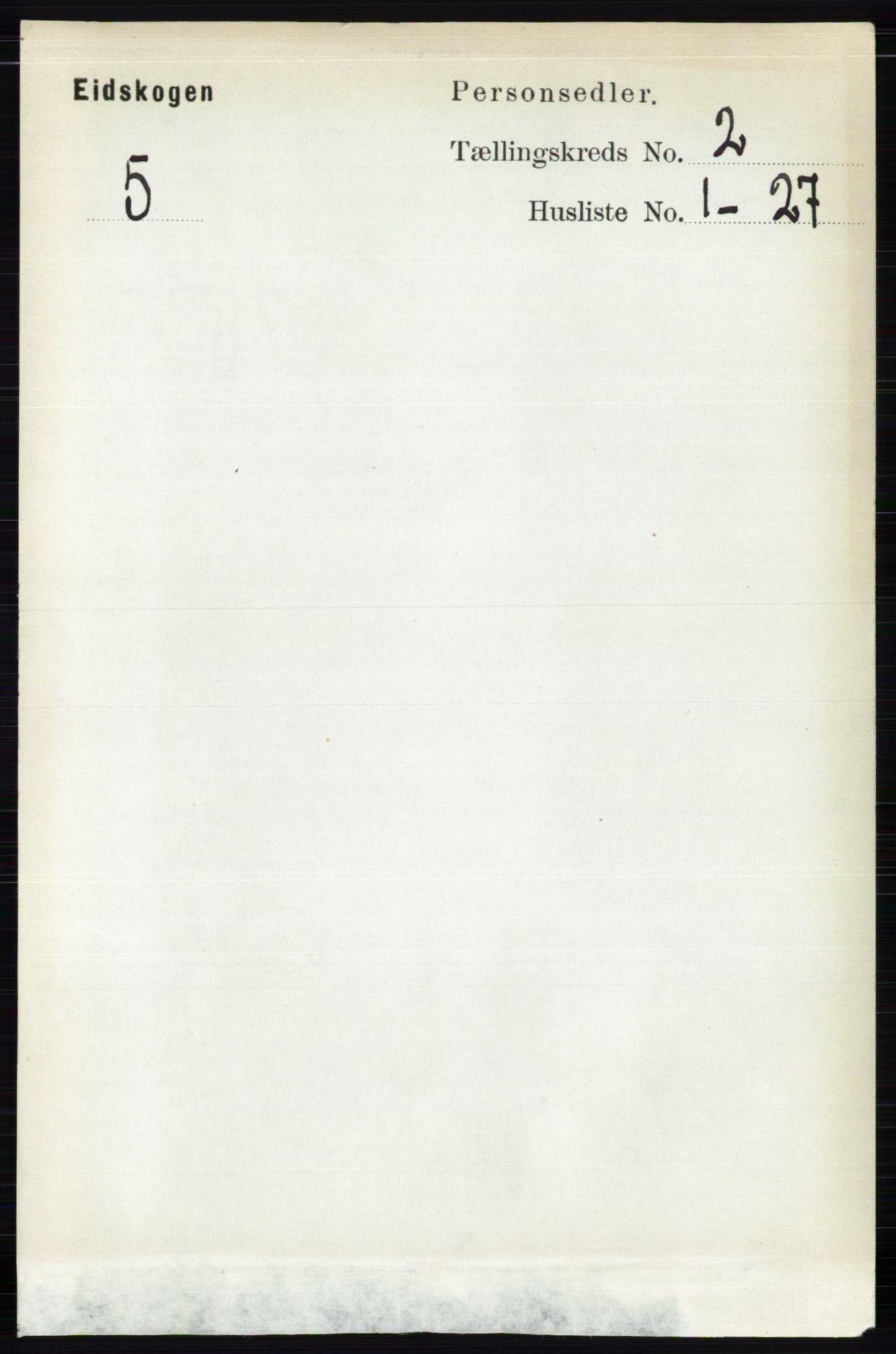 RA, Folketelling 1891 for 0420 Eidskog herred, 1891, s. 509