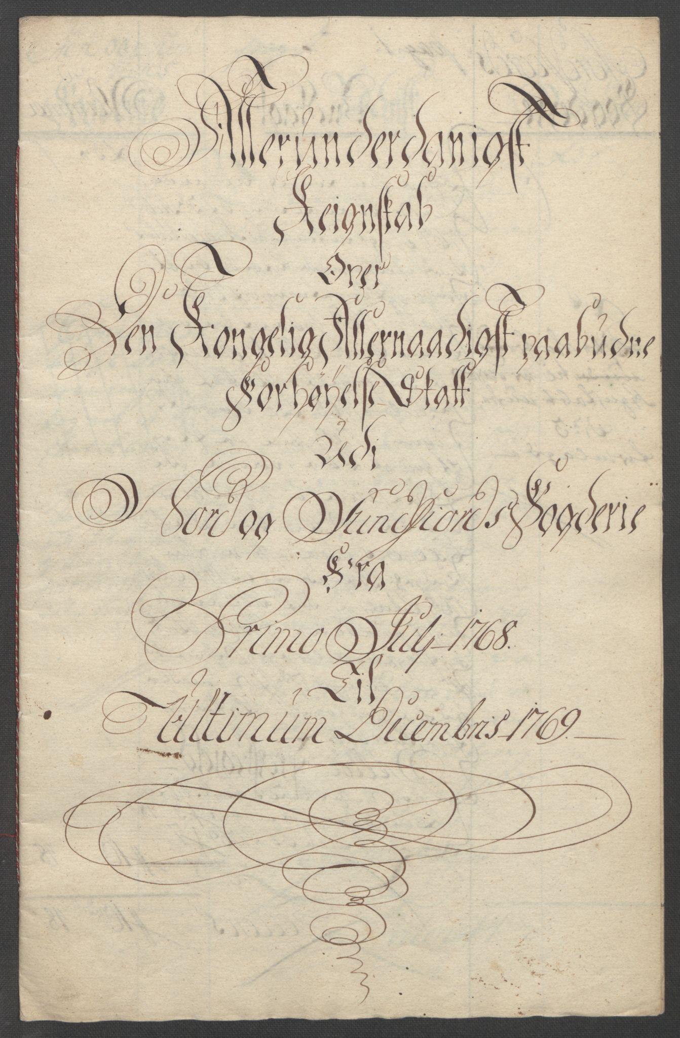 RA, Rentekammeret inntil 1814, Reviderte regnskaper, Fogderegnskap, R53/L3550: Ekstraskatten Sunn- og Nordfjord, 1762-1771, s. 255