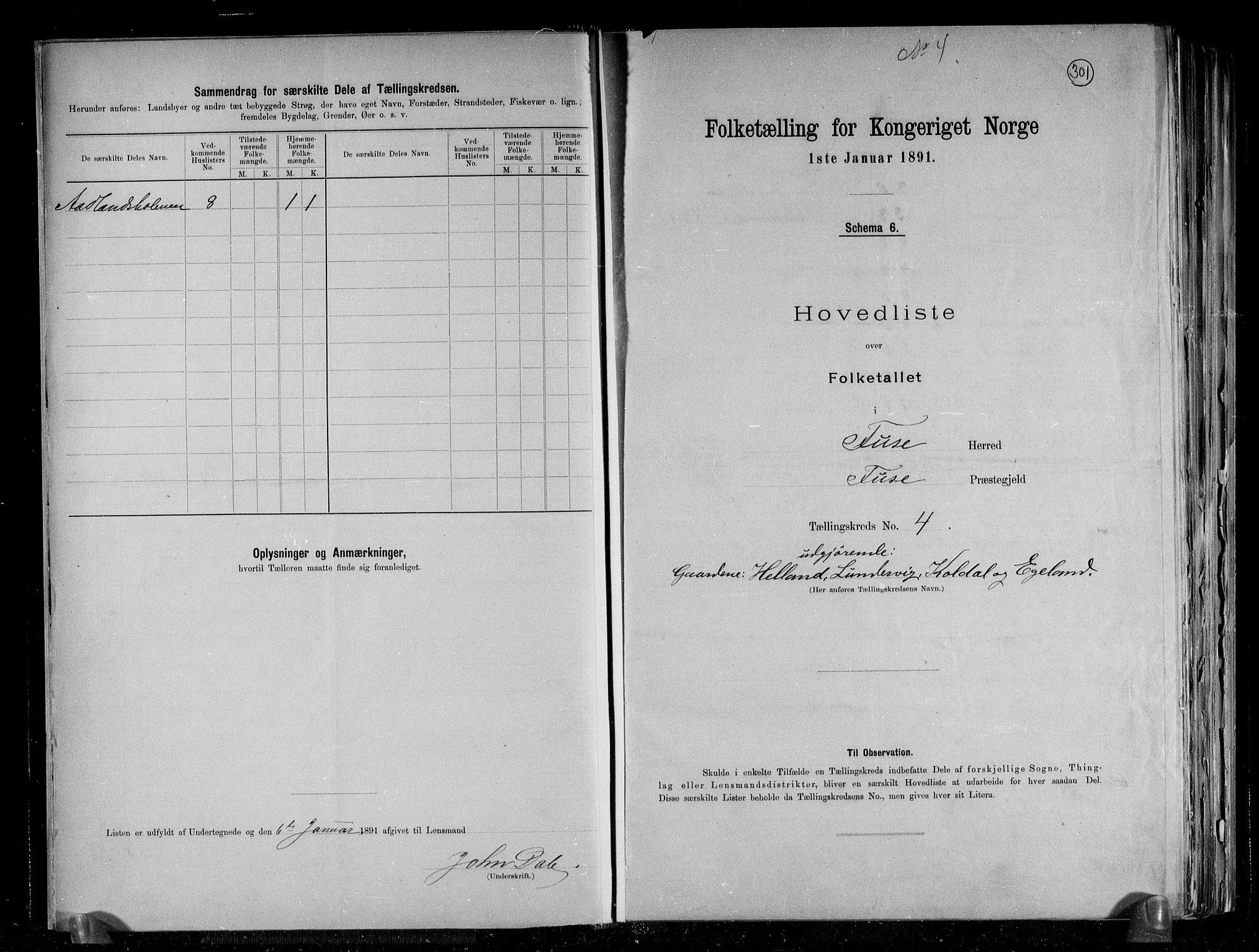 RA, Folketelling 1891 for 1241 Fusa herred, 1891, s. 10