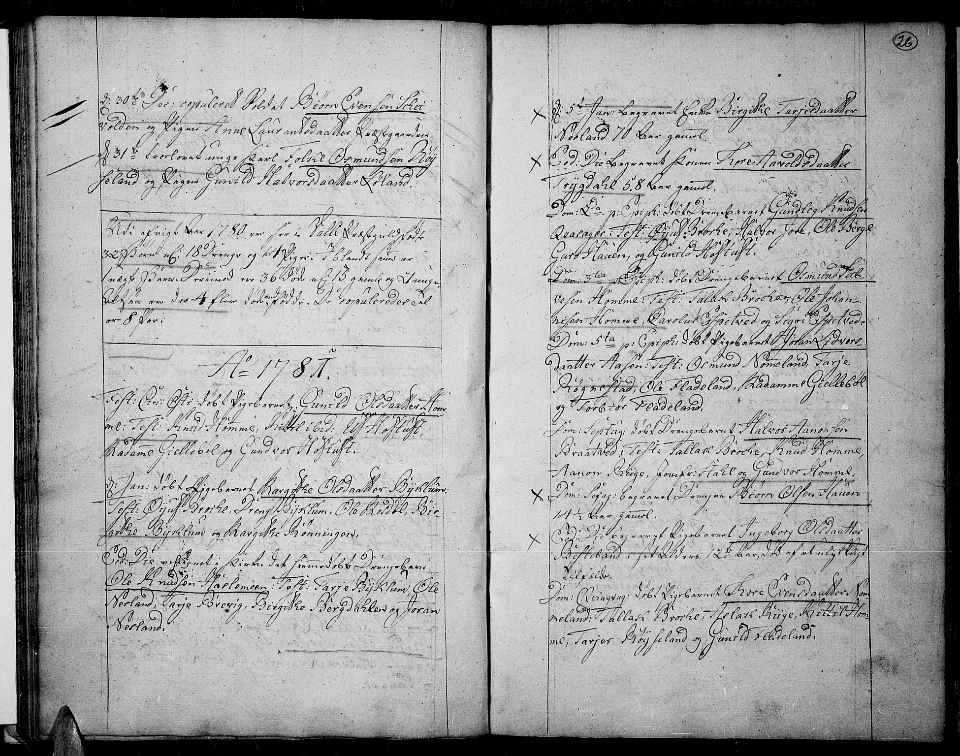 SAK, Valle sokneprestkontor, F/Fa/Fac/L0003: Ministerialbok nr. A 3, 1776-1790, s. 26