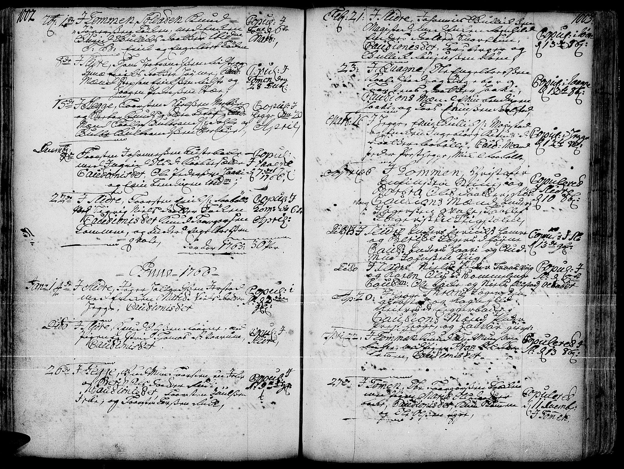 SAH, Slidre prestekontor, Ministerialbok nr. 1, 1724-1814, s. 1002-1003