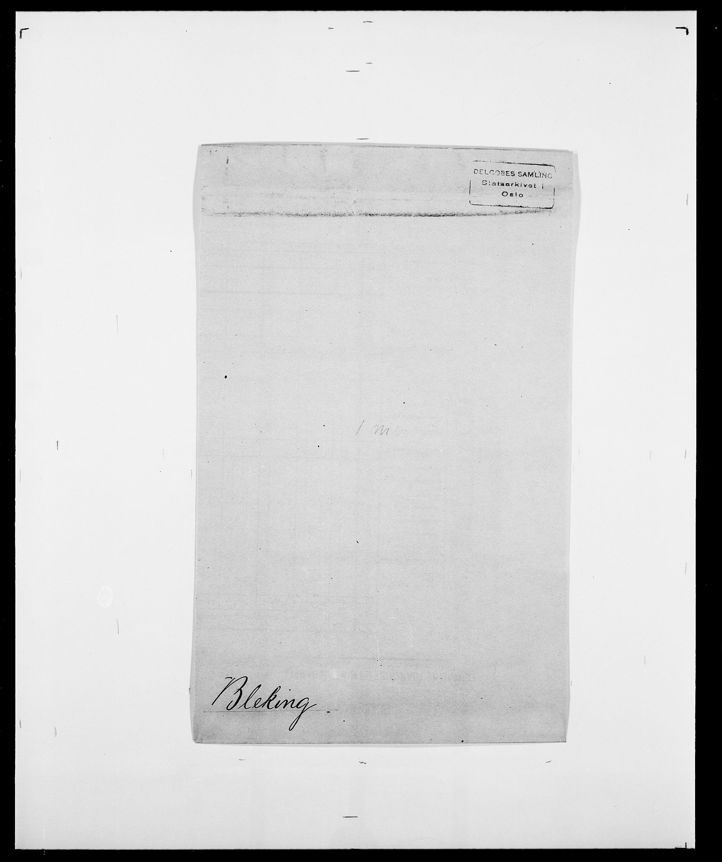 SAO, Delgobe, Charles Antoine - samling, D/Da/L0004: Bergendahl - Blære, s. 576
