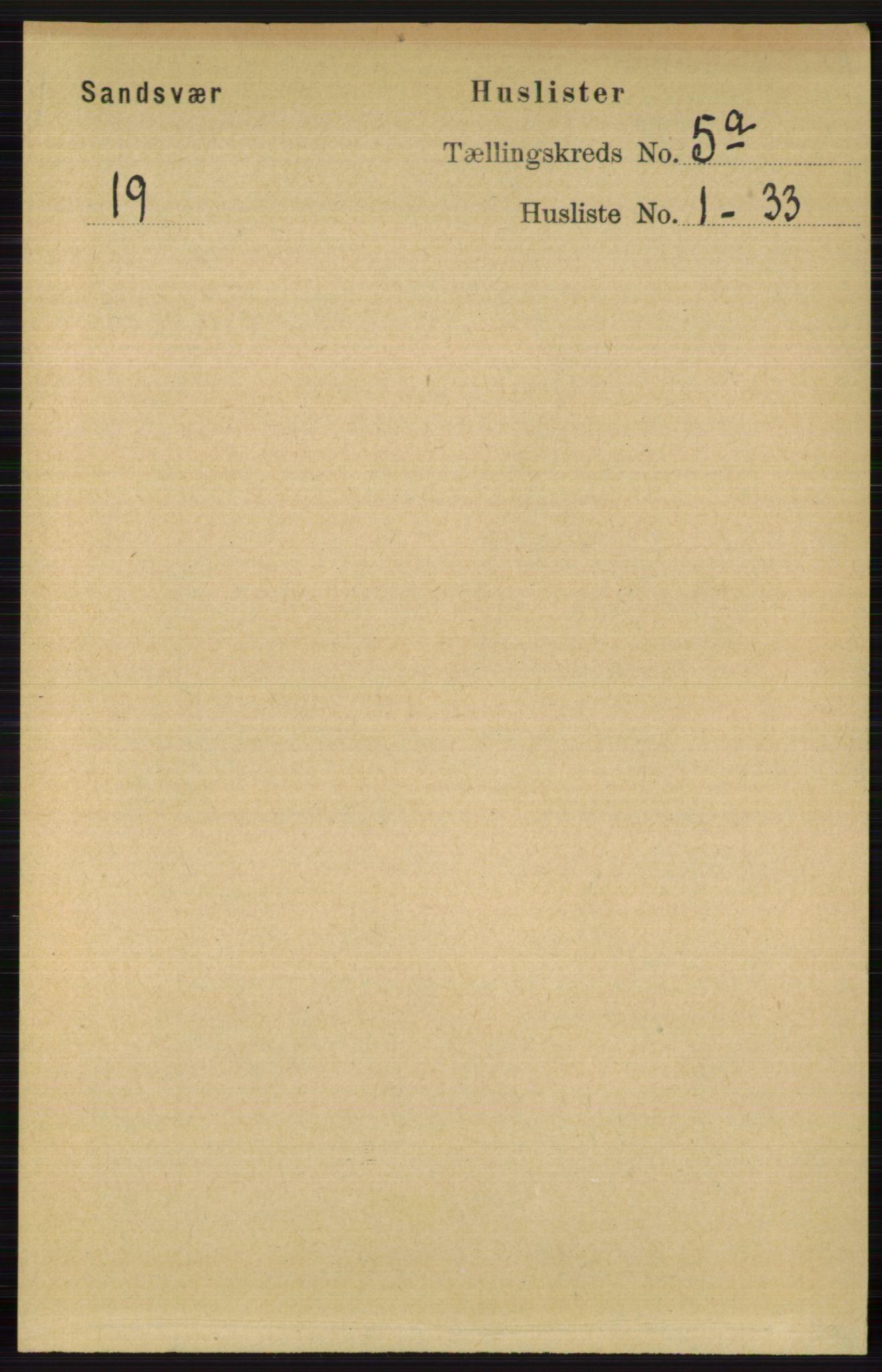 RA, Folketelling 1891 for 0629 Sandsvær herred, 1891, s. 2441