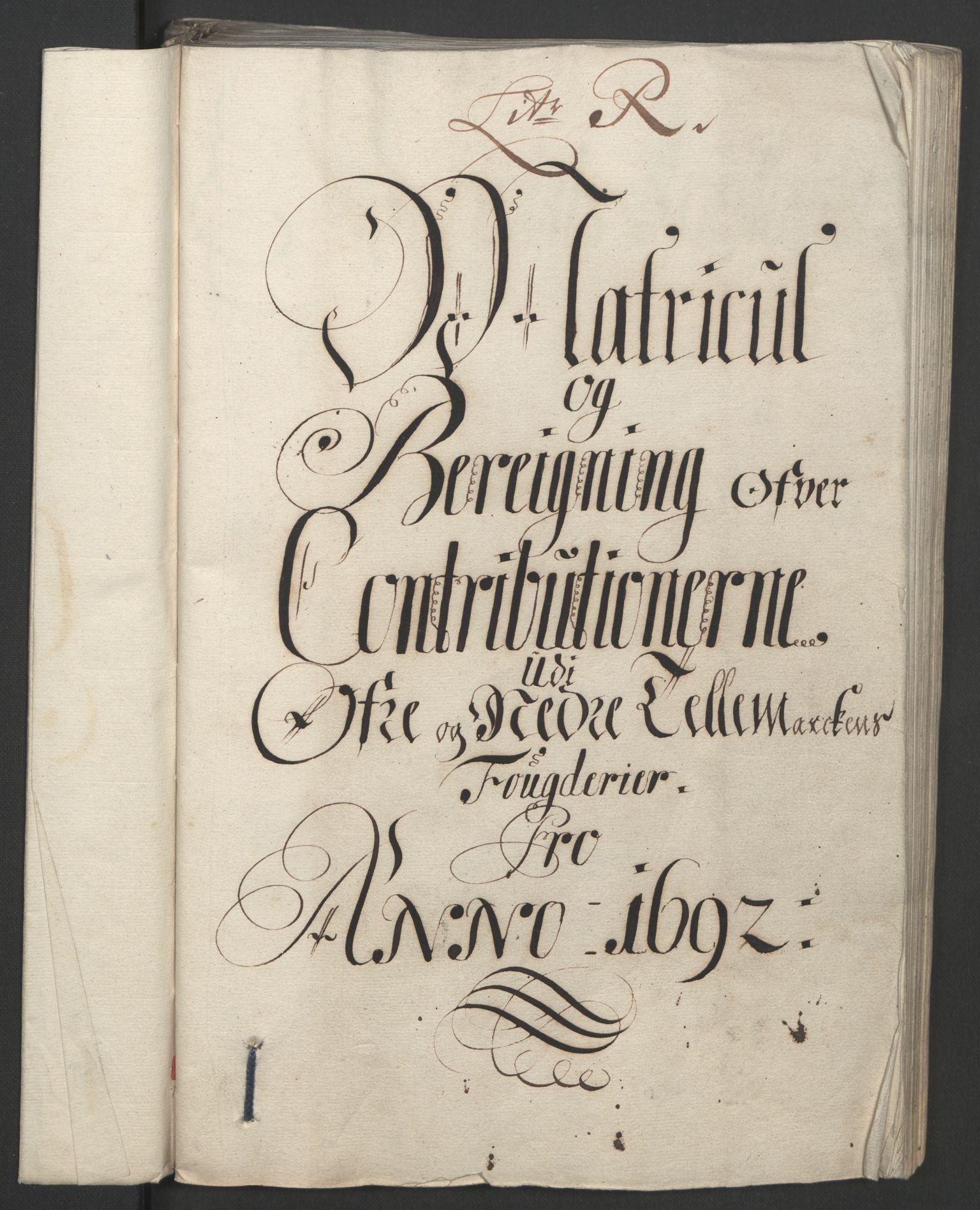 RA, Rentekammeret inntil 1814, Reviderte regnskaper, Fogderegnskap, R35/L2090: Fogderegnskap Øvre og Nedre Telemark, 1692, s. 51
