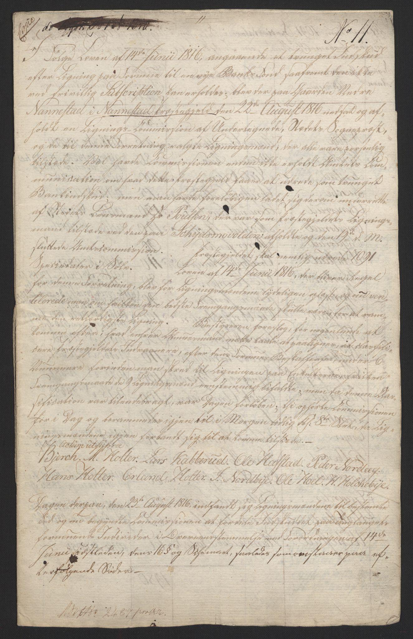 NOBA, Norges Bank/Sølvskatten 1816*, 1816-1821, s. 39