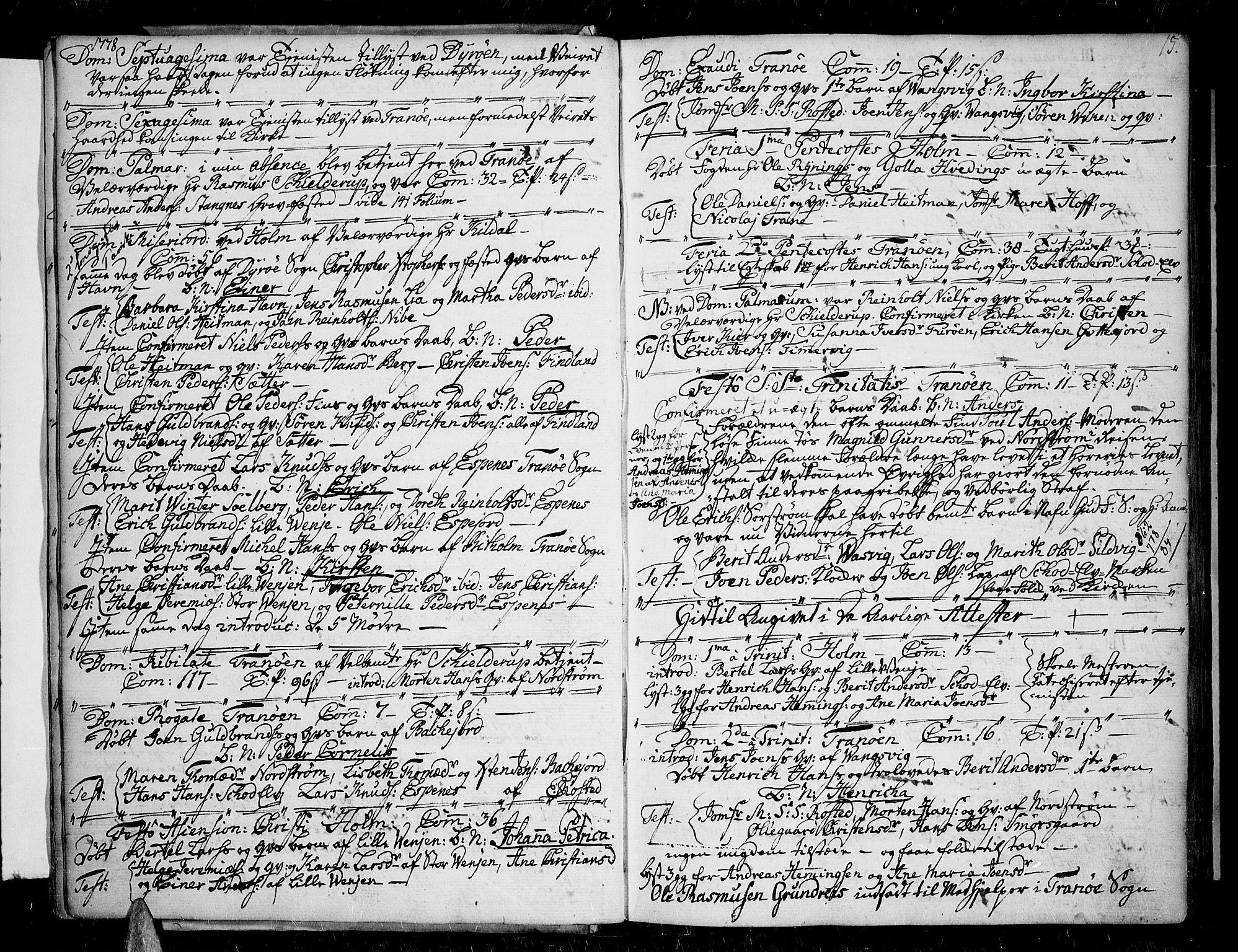SATØ, Tranøy sokneprestkontor, I/Ia/Iaa/L0002kirke: Ministerialbok nr. 2, 1773-1806, s. 15