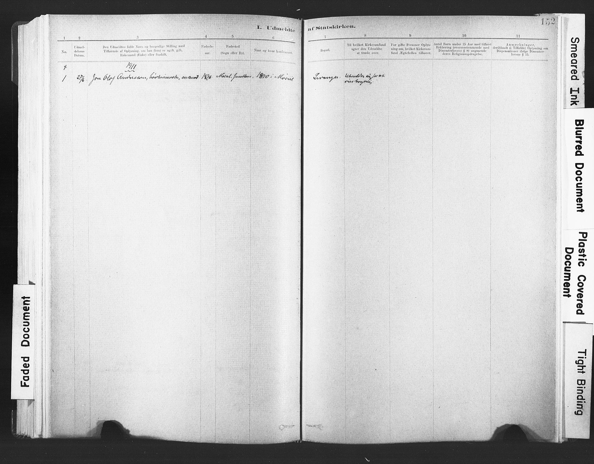 SAT, Ministerialprotokoller, klokkerbøker og fødselsregistre - Nord-Trøndelag, 720/L0189: Ministerialbok nr. 720A05, 1880-1911, s. 152