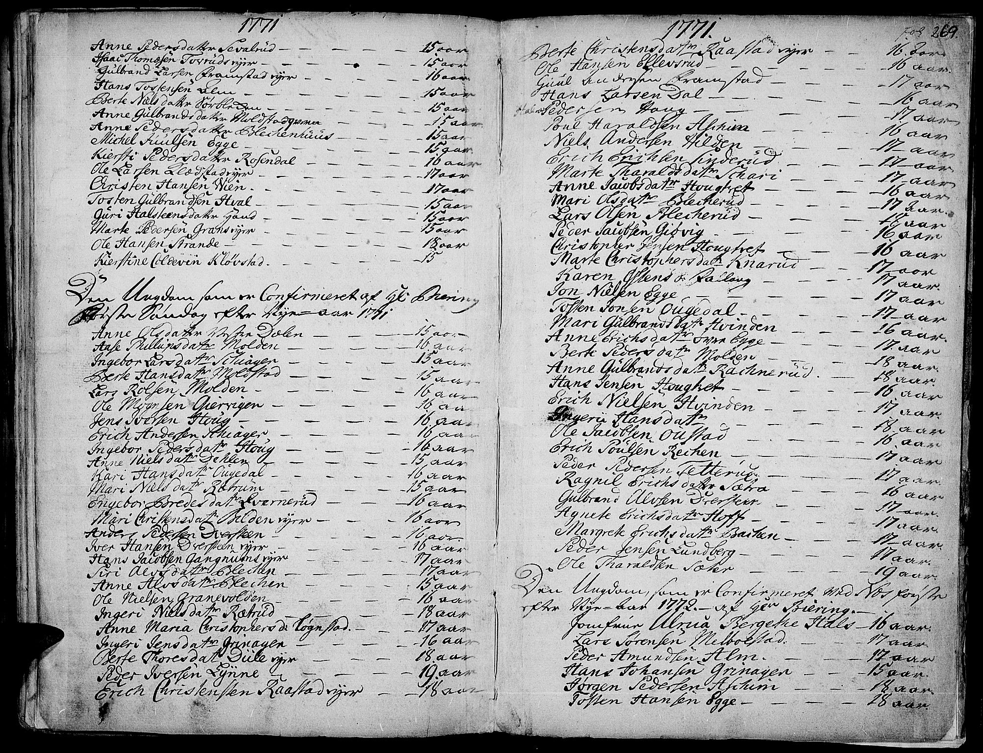 SAH, Gran prestekontor, Ministerialbok nr. 4, 1759-1775, s. 269