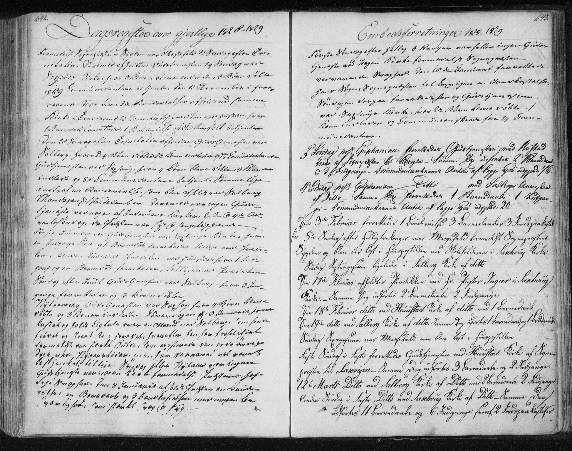 SAT, Ministerialprotokoller, klokkerbøker og fødselsregistre - Nord-Trøndelag, 730/L0276: Ministerialbok nr. 730A05, 1822-1830, s. 642-643