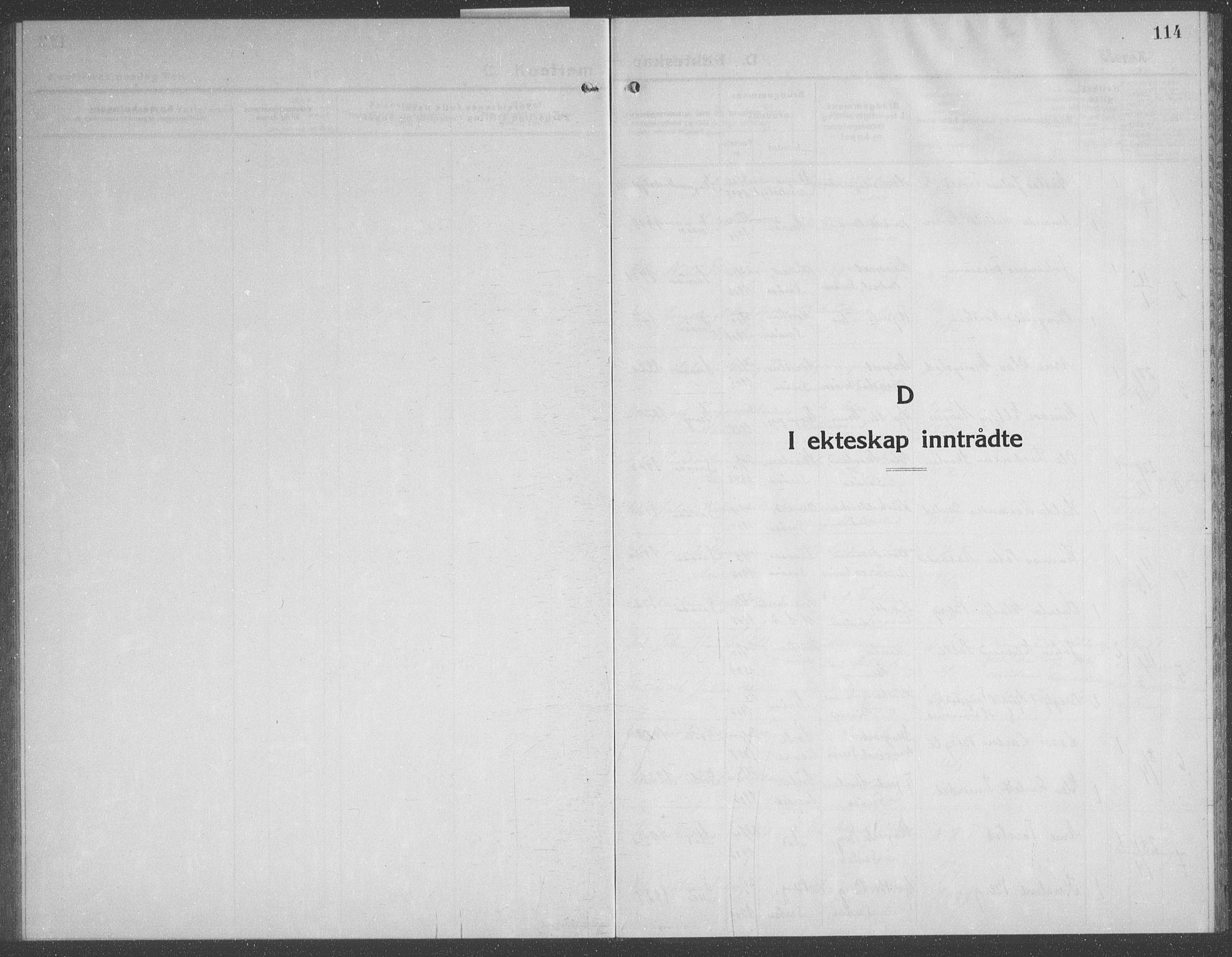 SAT, Ministerialprotokoller, klokkerbøker og fødselsregistre - Nord-Trøndelag, 749/L0481: Klokkerbok nr. 749C03, 1933-1945, s. 114