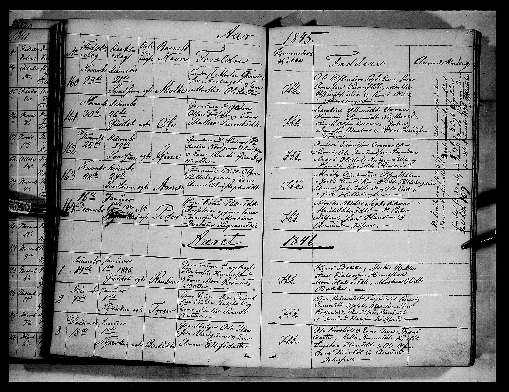 SAH, Gausdal prestekontor, Ministerialbok nr. 7, 1840-1850, s. 79
