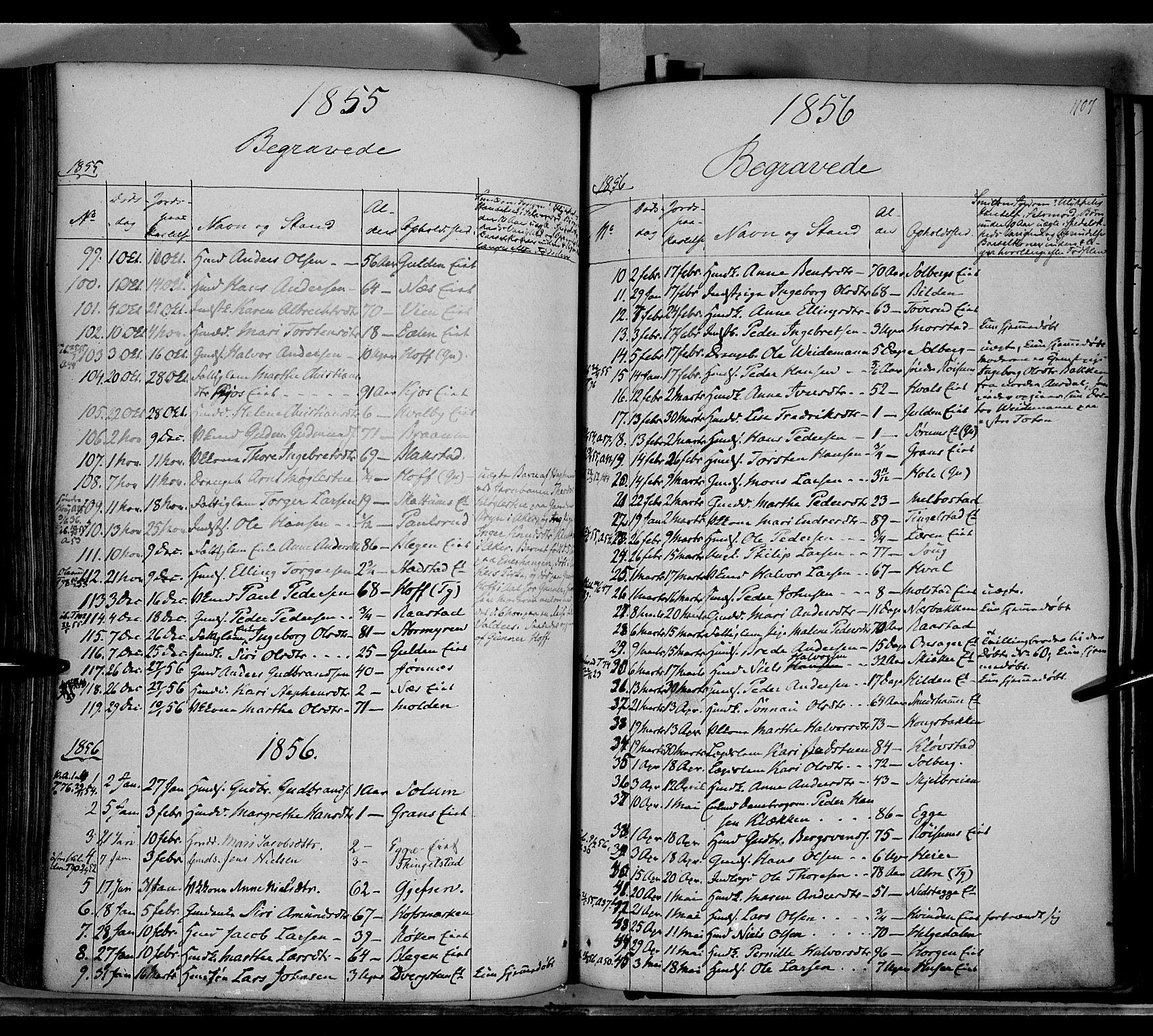 SAH, Gran prestekontor, Ministerialbok nr. 11, 1842-1856, s. 1106-1107