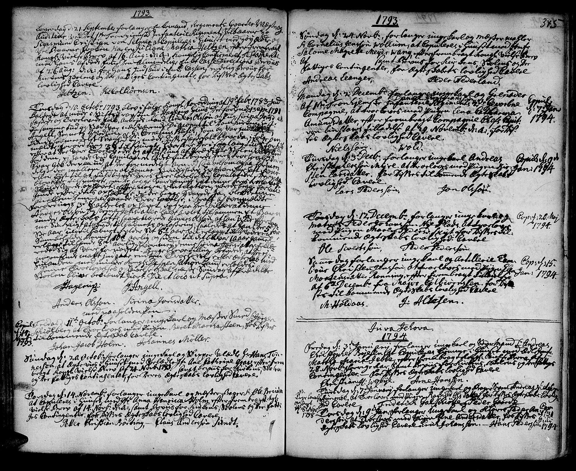 SAT, Ministerialprotokoller, klokkerbøker og fødselsregistre - Sør-Trøndelag, 601/L0038: Ministerialbok nr. 601A06, 1766-1877, s. 345
