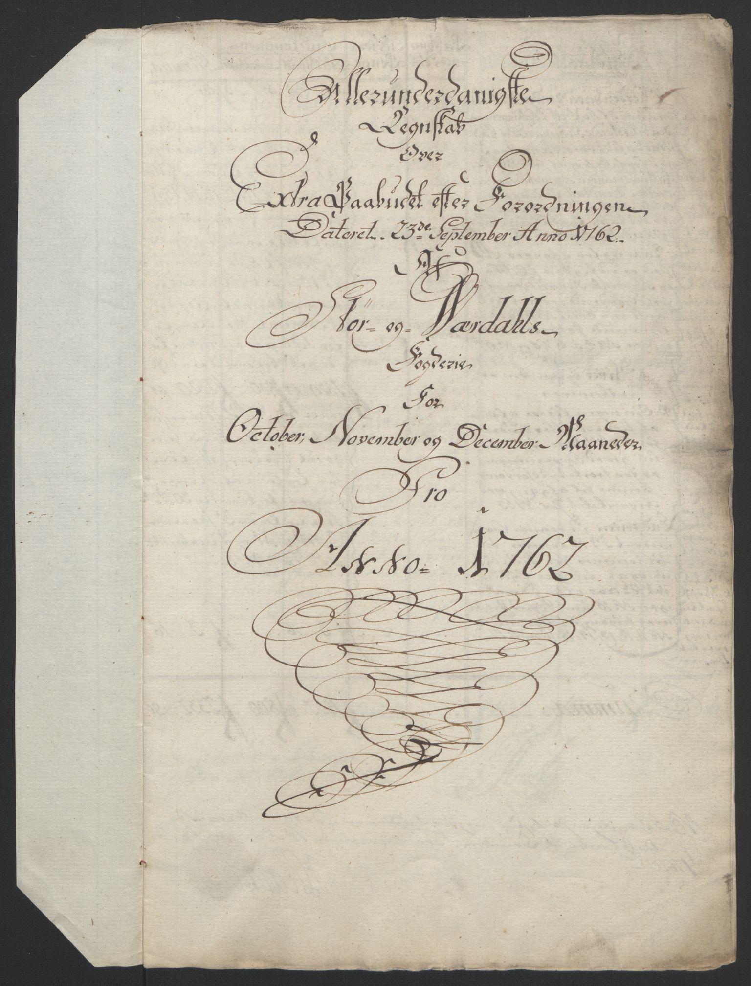 RA, Rentekammeret inntil 1814, Reviderte regnskaper, Fogderegnskap, R62/L4303: Ekstraskatten Stjørdal og Verdal, 1762-1763, s. 5