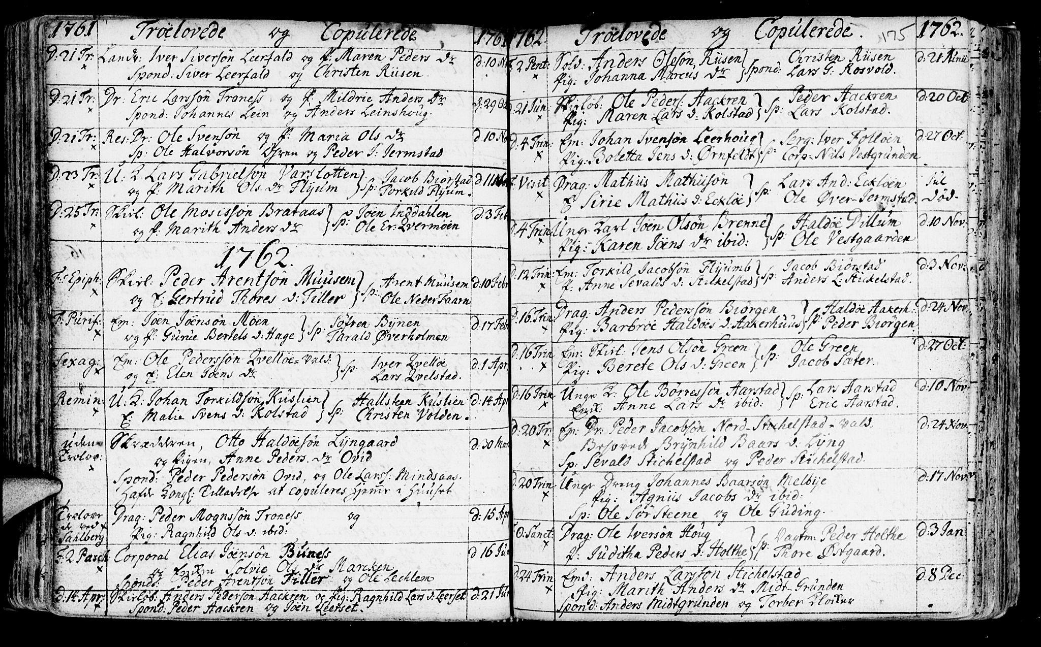 SAT, Ministerialprotokoller, klokkerbøker og fødselsregistre - Nord-Trøndelag, 723/L0231: Ministerialbok nr. 723A02, 1748-1780, s. 175