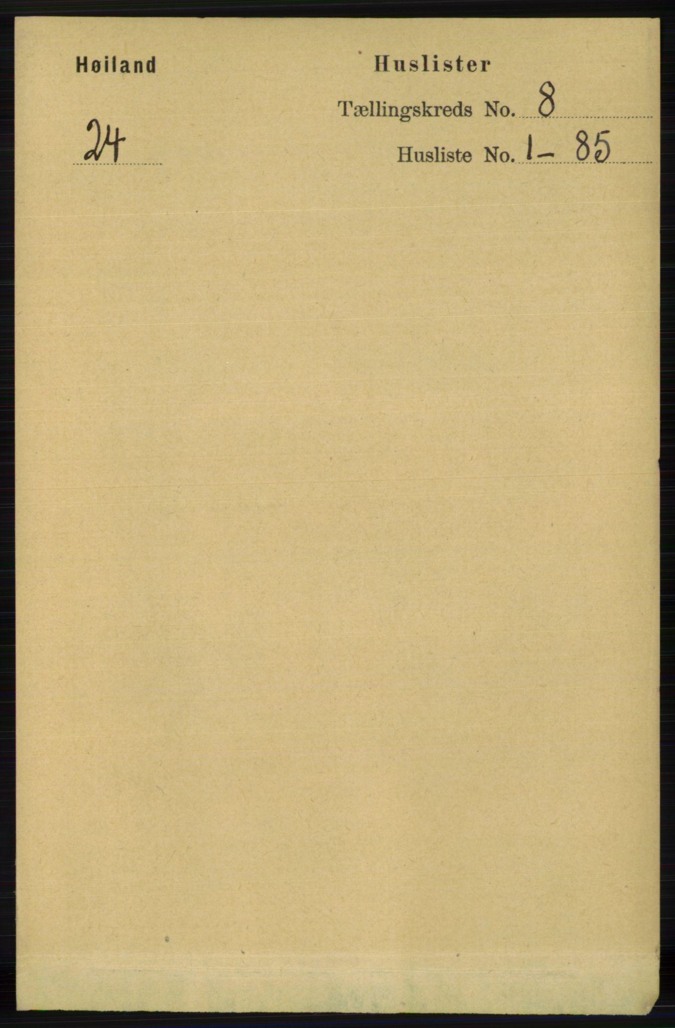 RA, Folketelling 1891 for 1123 Høyland herred, 1891, s. 2869