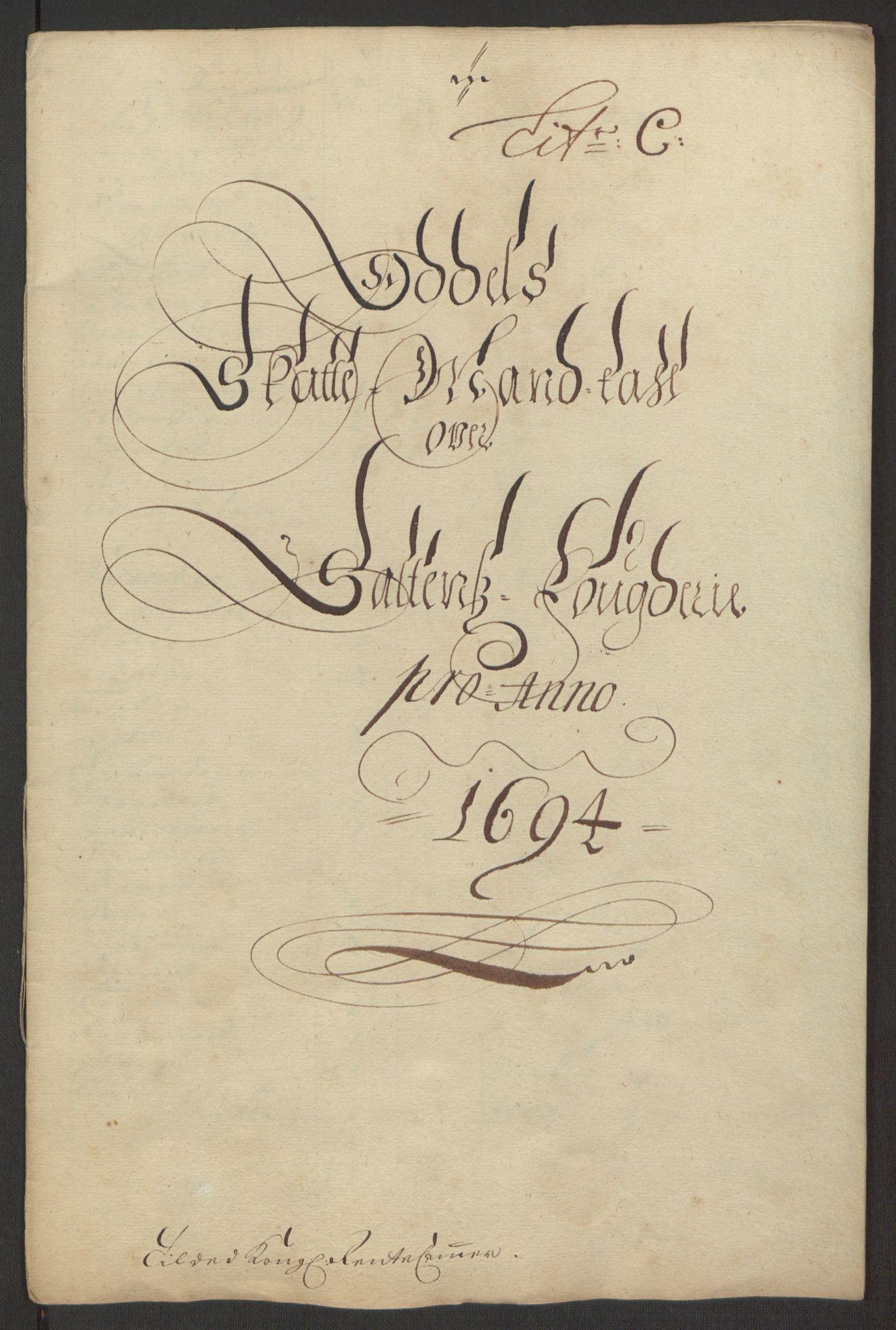 RA, Rentekammeret inntil 1814, Reviderte regnskaper, Fogderegnskap, R66/L4578: Fogderegnskap Salten, 1694-1696, s. 50