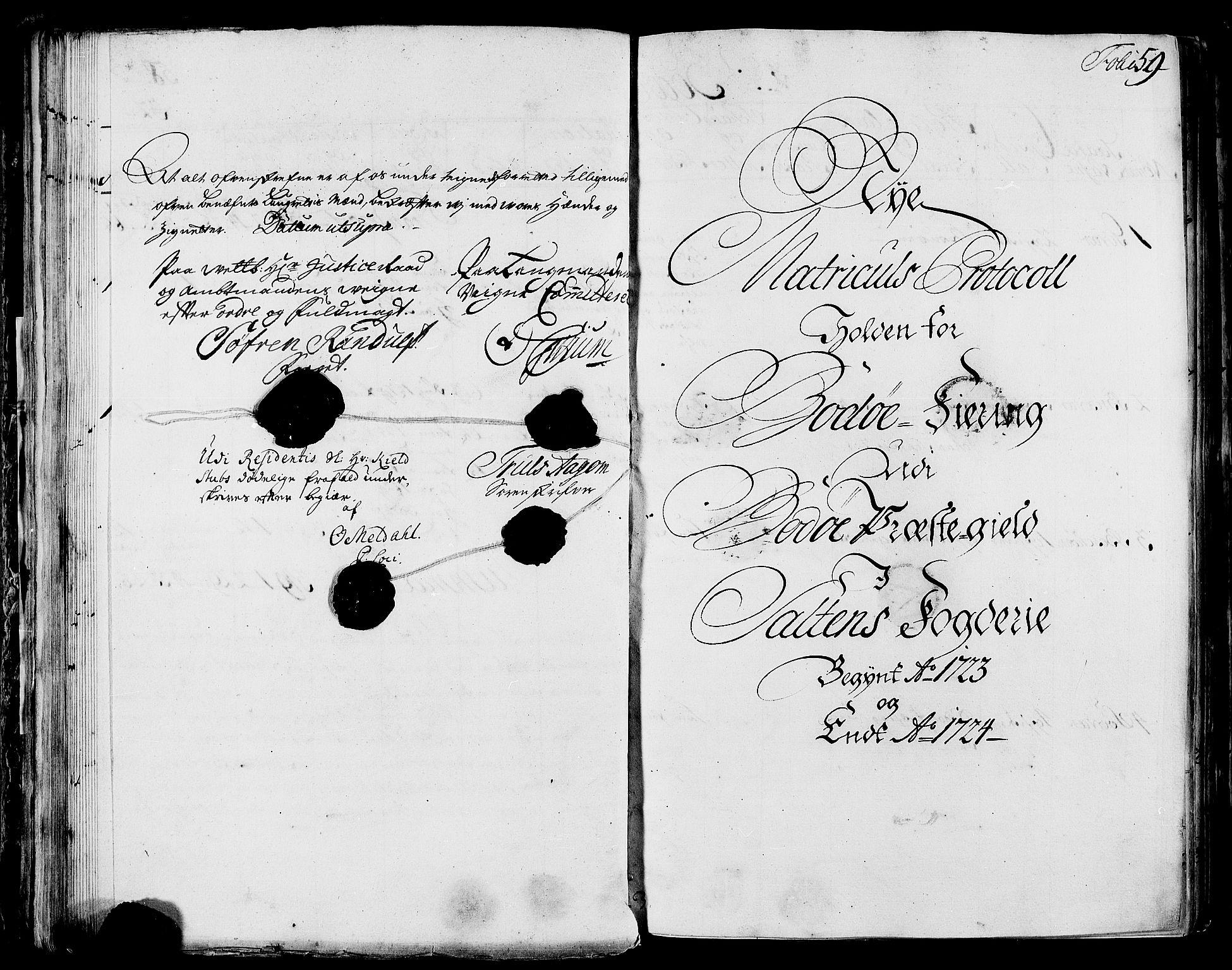 RA, Rentekammeret inntil 1814, Realistisk ordnet avdeling, N/Nb/Nbf/L0172: Salten eksaminasjonsprotokoll, 1723, s. 58b-59a