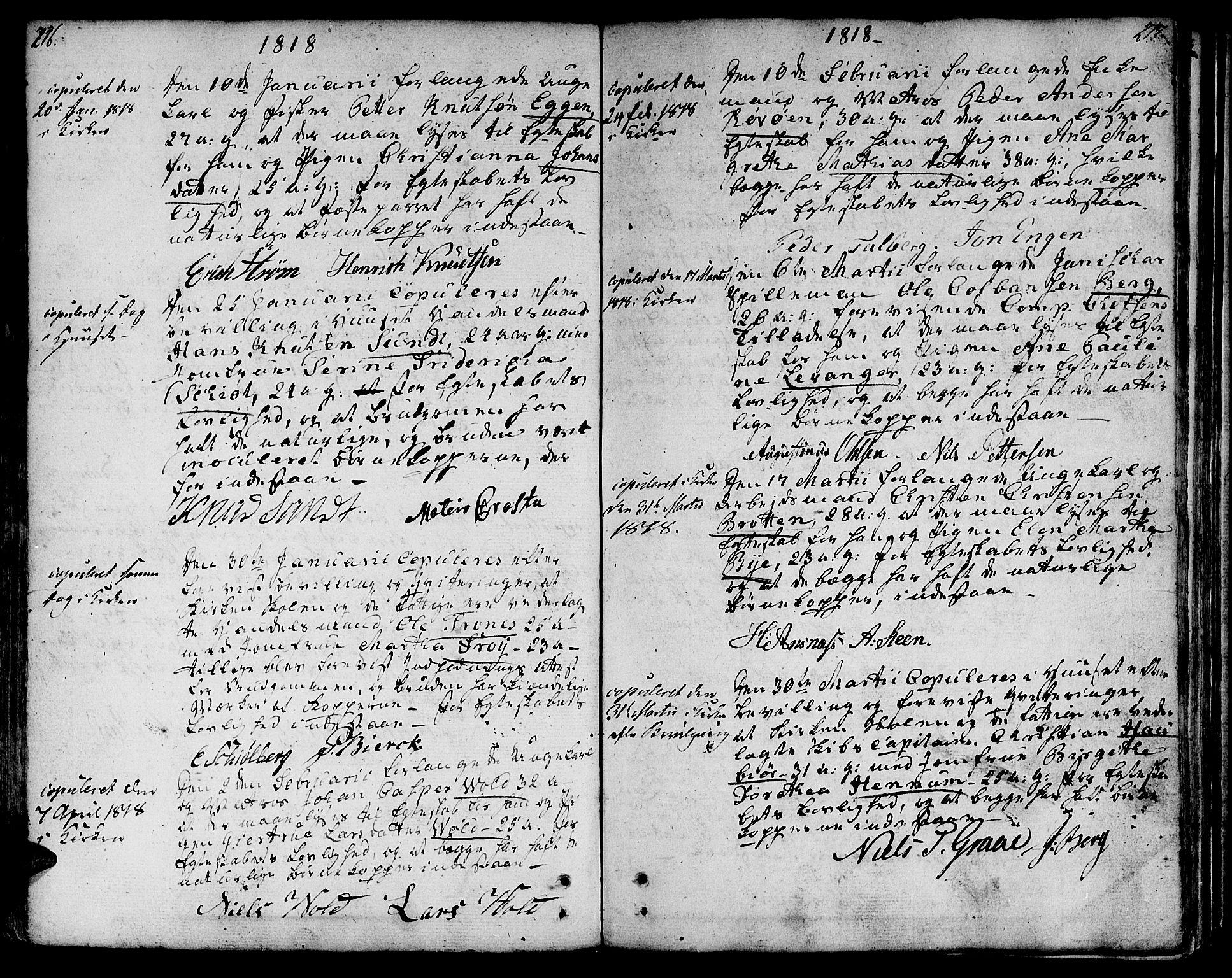 SAT, Ministerialprotokoller, klokkerbøker og fødselsregistre - Sør-Trøndelag, 601/L0042: Ministerialbok nr. 601A10, 1802-1830, s. 216-217