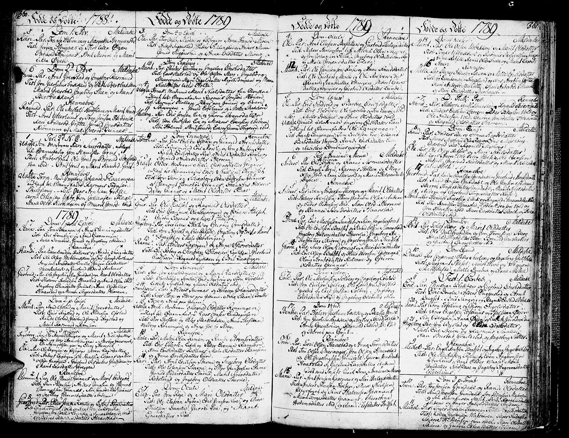 SAT, Ministerialprotokoller, klokkerbøker og fødselsregistre - Sør-Trøndelag, 672/L0852: Ministerialbok nr. 672A05, 1776-1815, s. 360-361