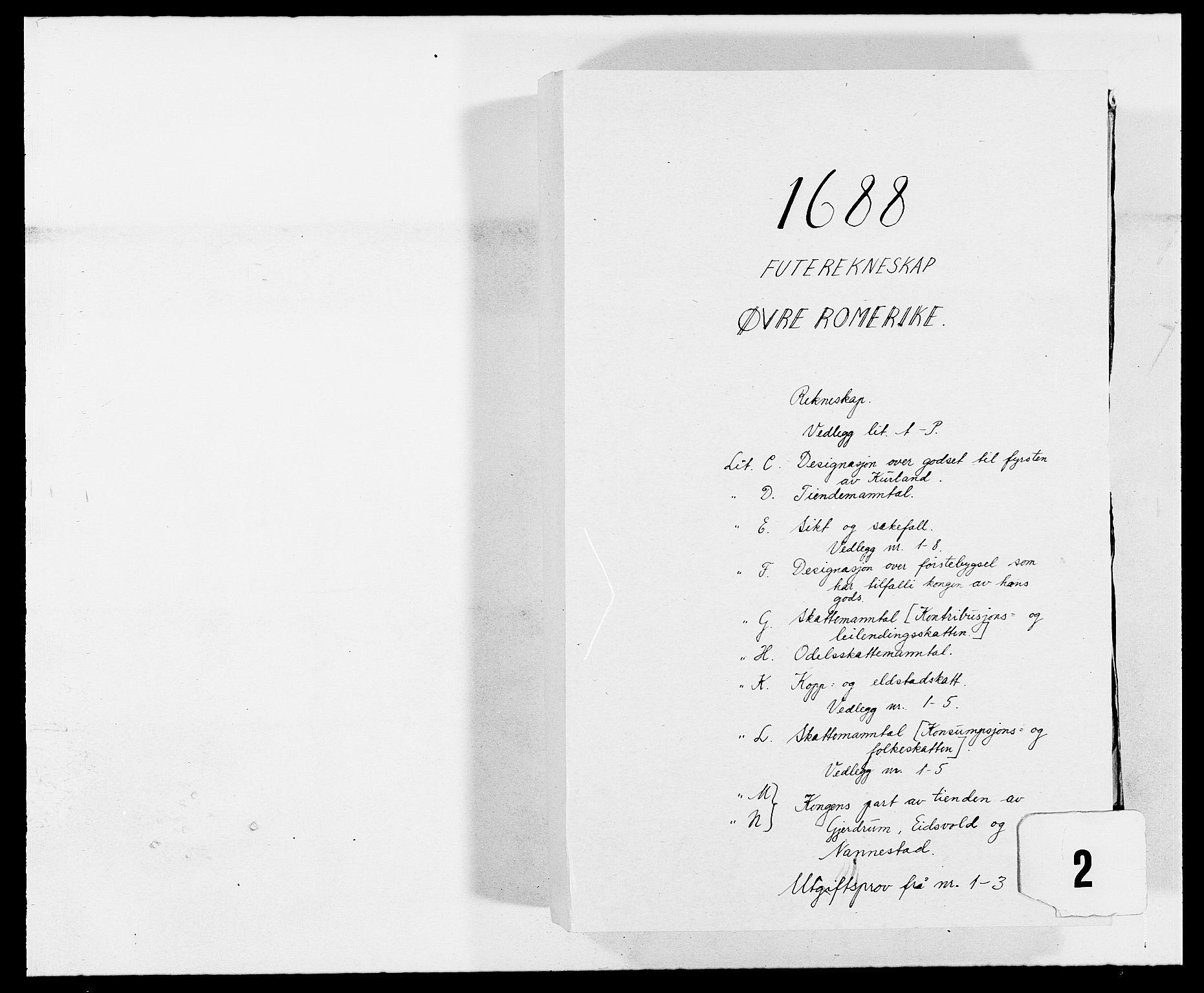 RA, Rentekammeret inntil 1814, Reviderte regnskaper, Fogderegnskap, R12/L0700: Fogderegnskap Øvre Romerike, 1687-1688, s. 234