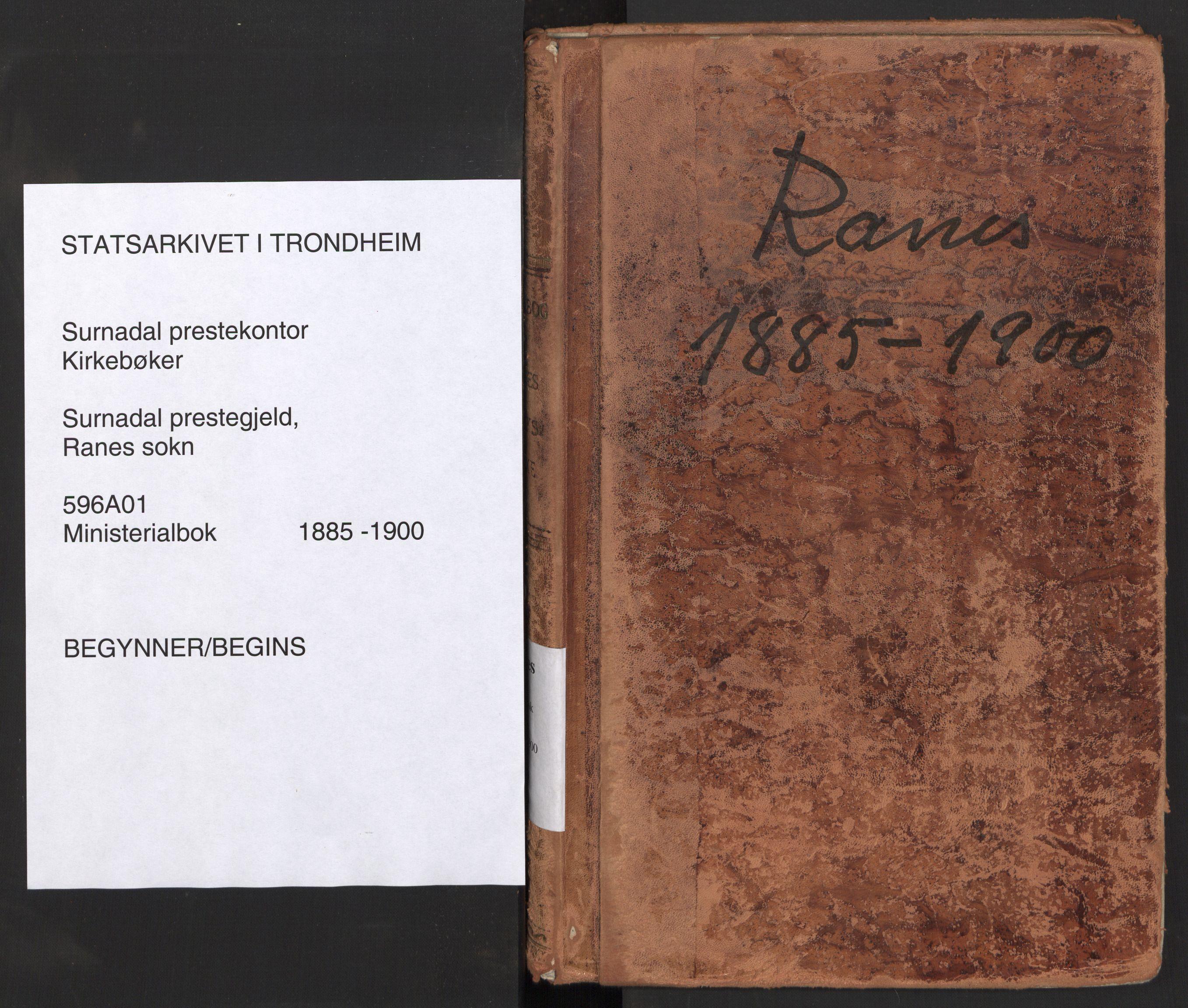 SAT, Ministerialprotokoller, klokkerbøker og fødselsregistre - Møre og Romsdal, 596/L1056: Ministerialbok nr. 596A01, 1885-1900