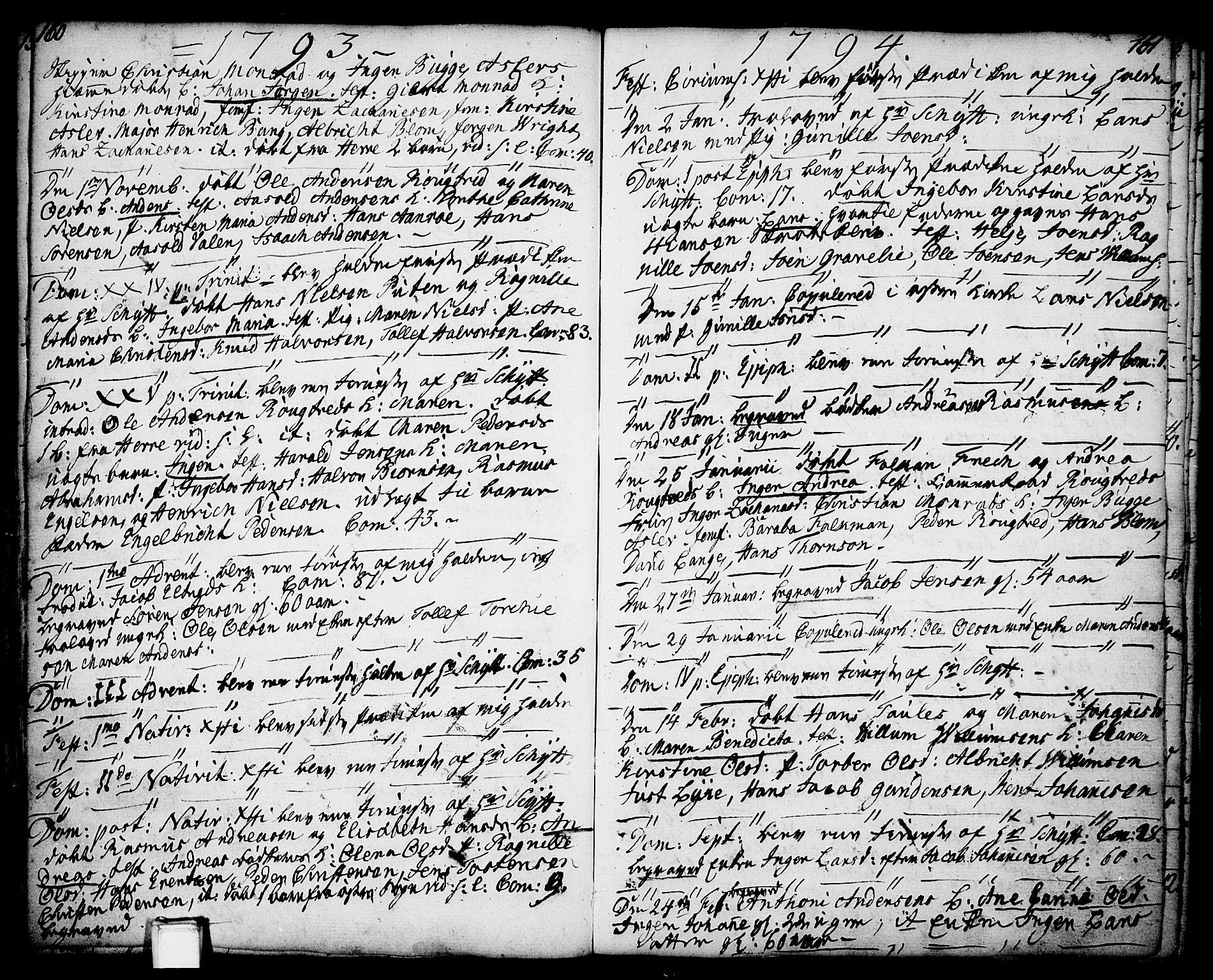 SAKO, Porsgrunn kirkebøker , F/Fa/L0001: Ministerialbok nr. 1, 1764-1814, s. 160-161