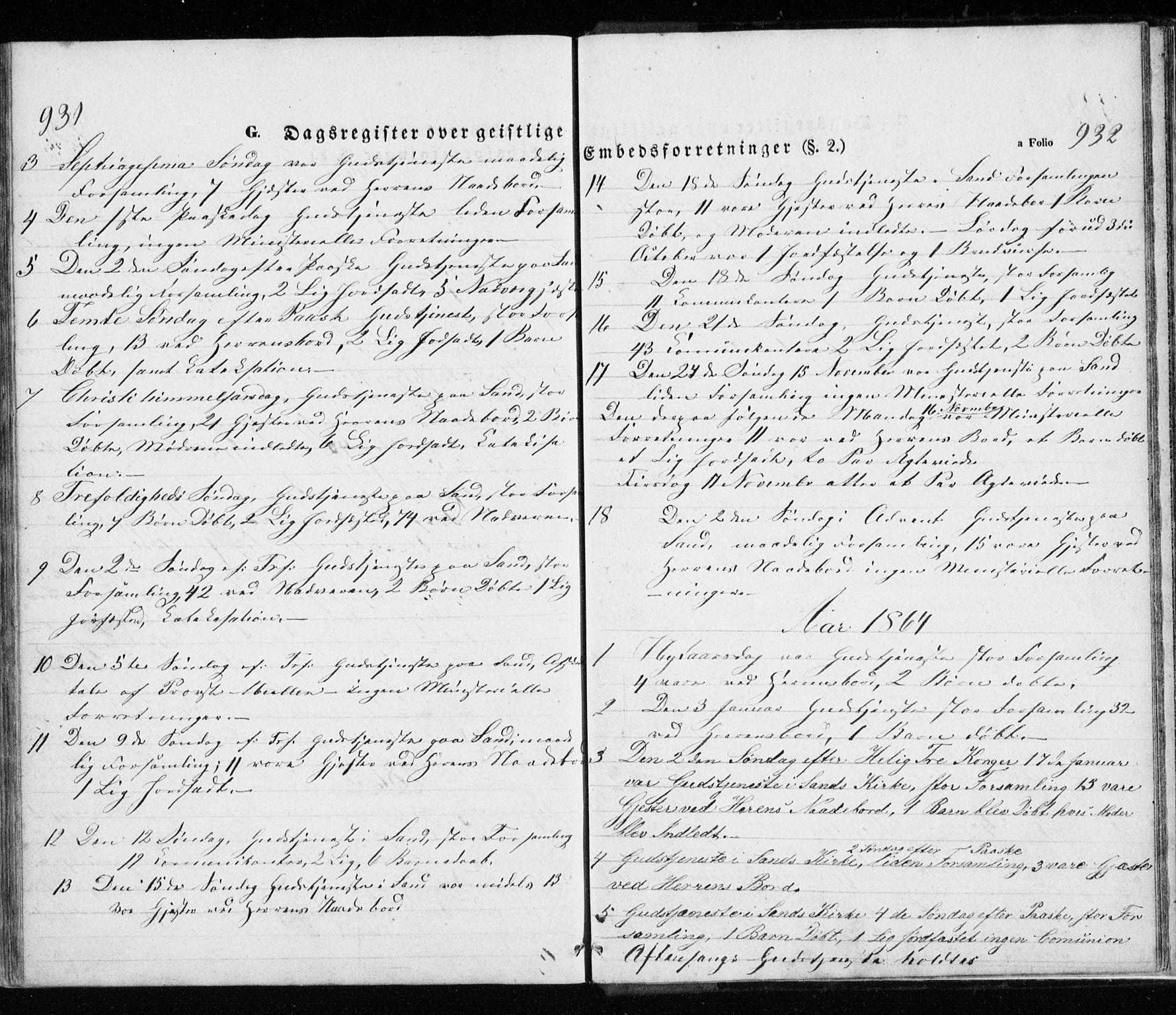 SATØ, Trondenes sokneprestkontor, H/Ha/L0010kirke: Ministerialbok nr. 10, 1840-1865, s. 931-932