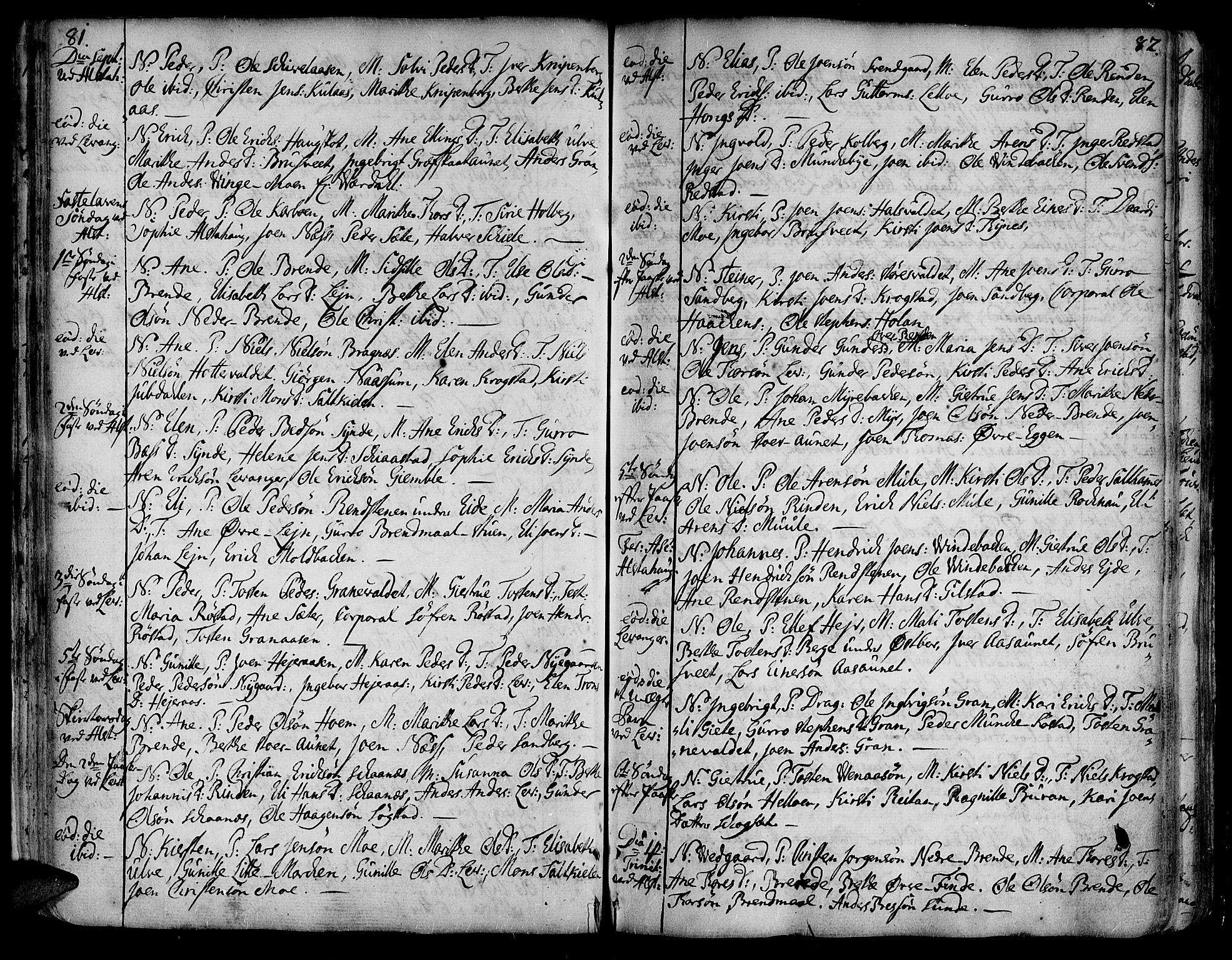 SAT, Ministerialprotokoller, klokkerbøker og fødselsregistre - Nord-Trøndelag, 717/L0141: Ministerialbok nr. 717A01, 1747-1803, s. 81-82