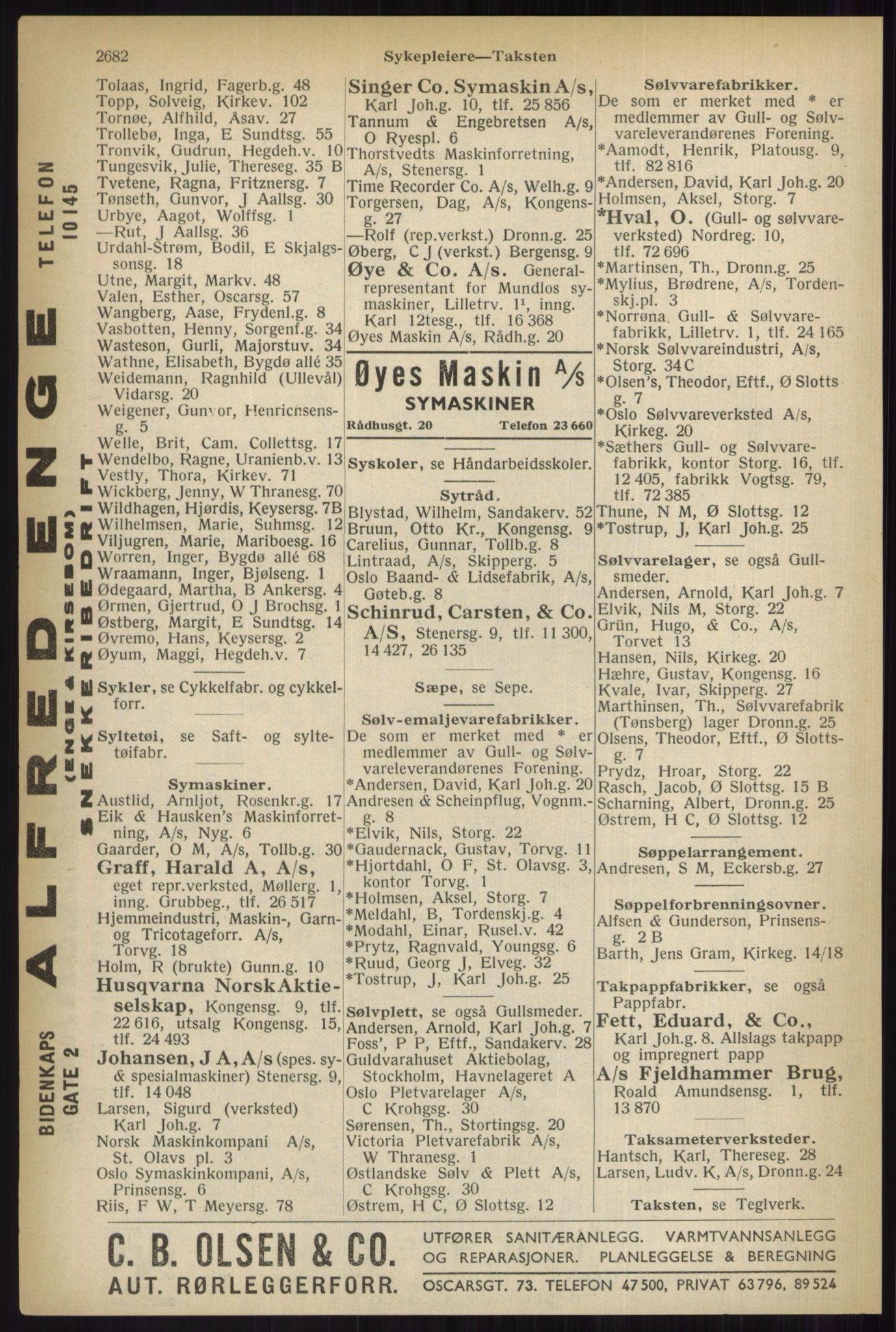 PUBL, Kristiania/Oslo adressebok, 1937, s. 2682