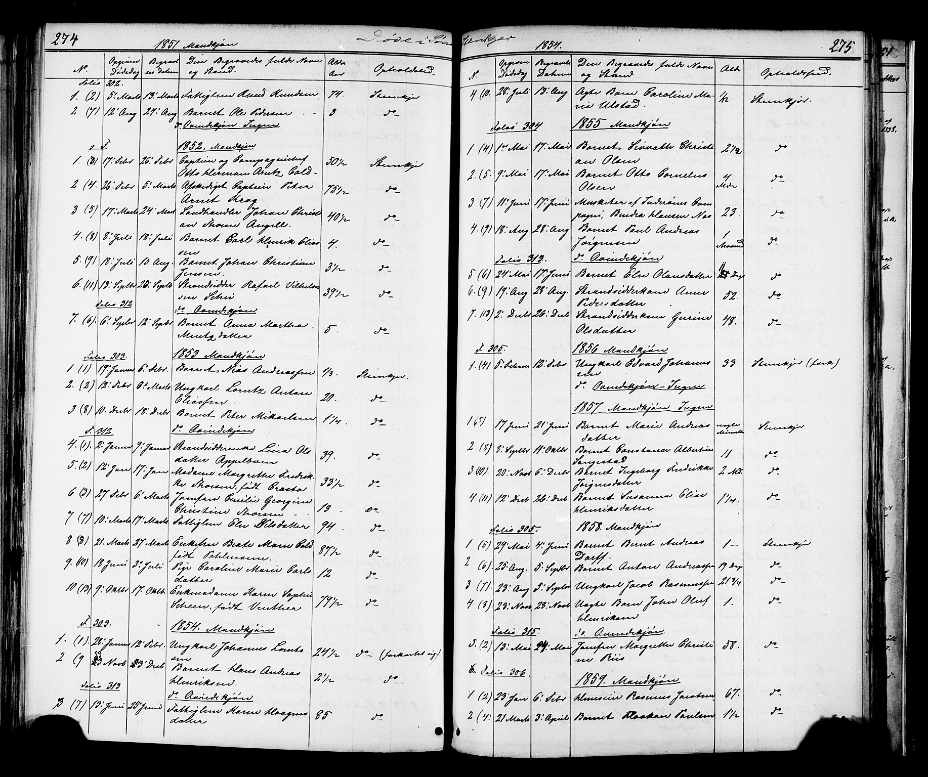 SAT, Ministerialprotokoller, klokkerbøker og fødselsregistre - Nord-Trøndelag, 739/L0367: Ministerialbok nr. 739A01 /1, 1838-1868, s. 274-275